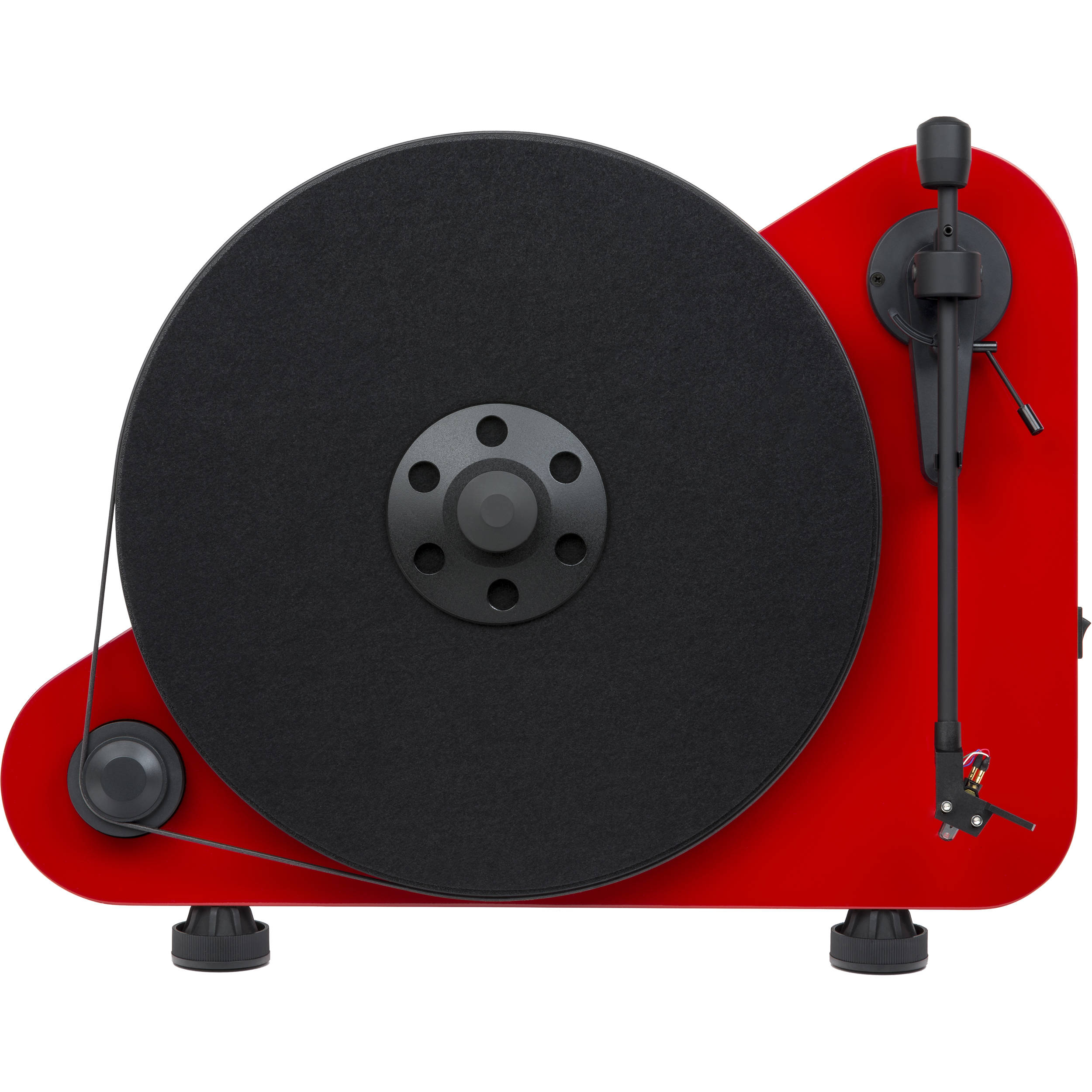 Pro Ject Audio Systems VT E BT R Vertical Turntable with Bluetooth (High Gloss Red)