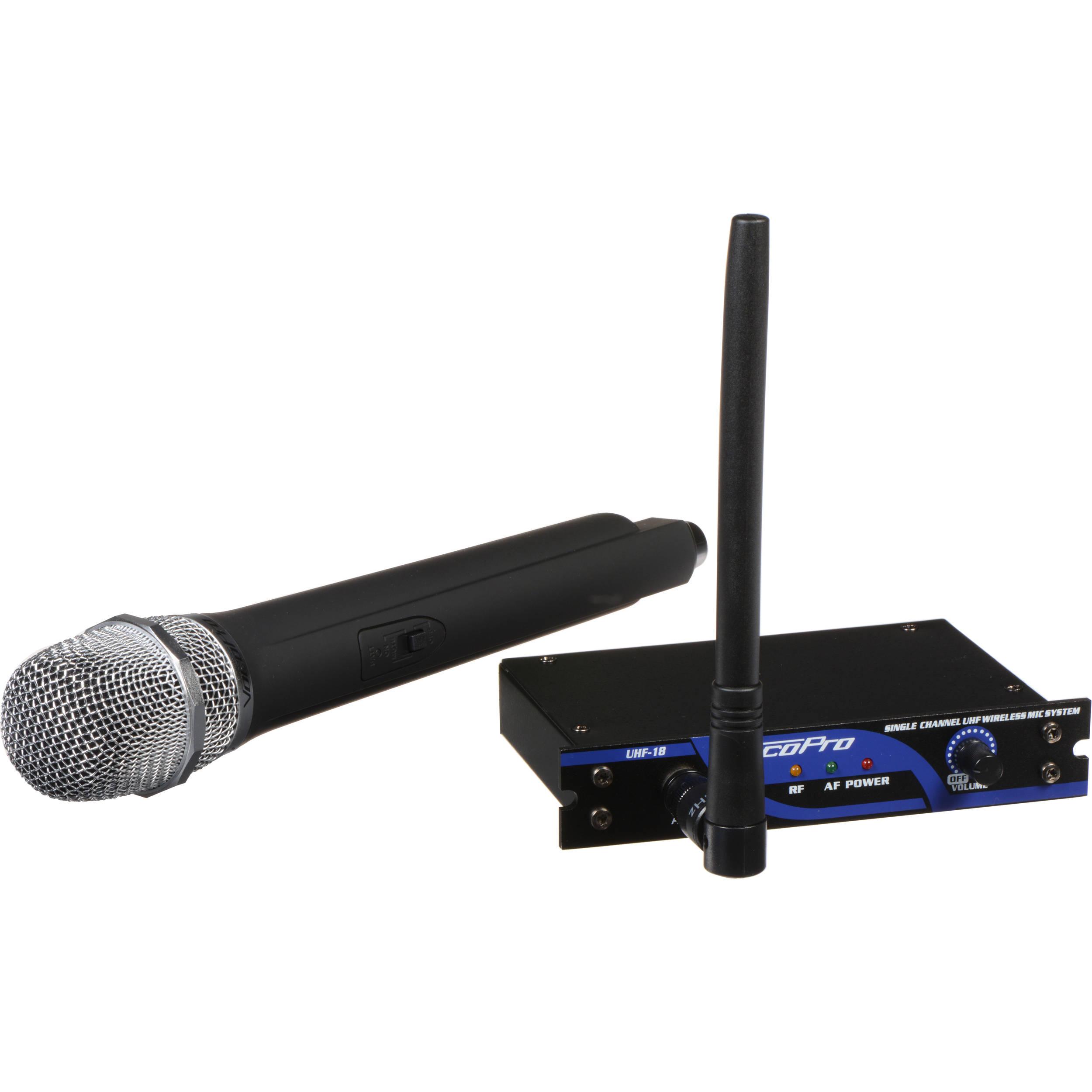 VocoPro UHF-18-9 Single-Channel Wireless Microphone System (915 00 MHz)