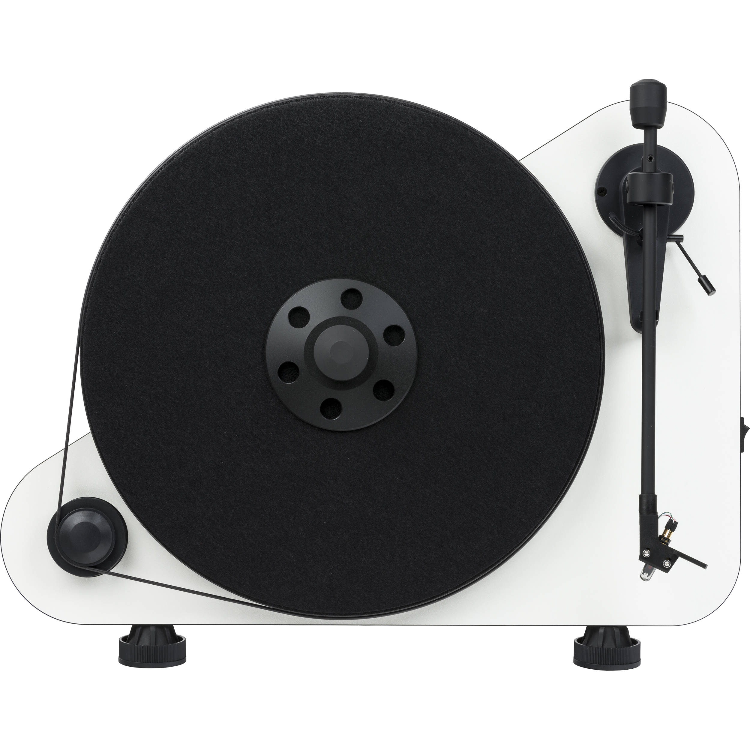 Pro Ject Audio Systems VT E BT R Vertical Turntable with Bluetooth (High Gloss White)