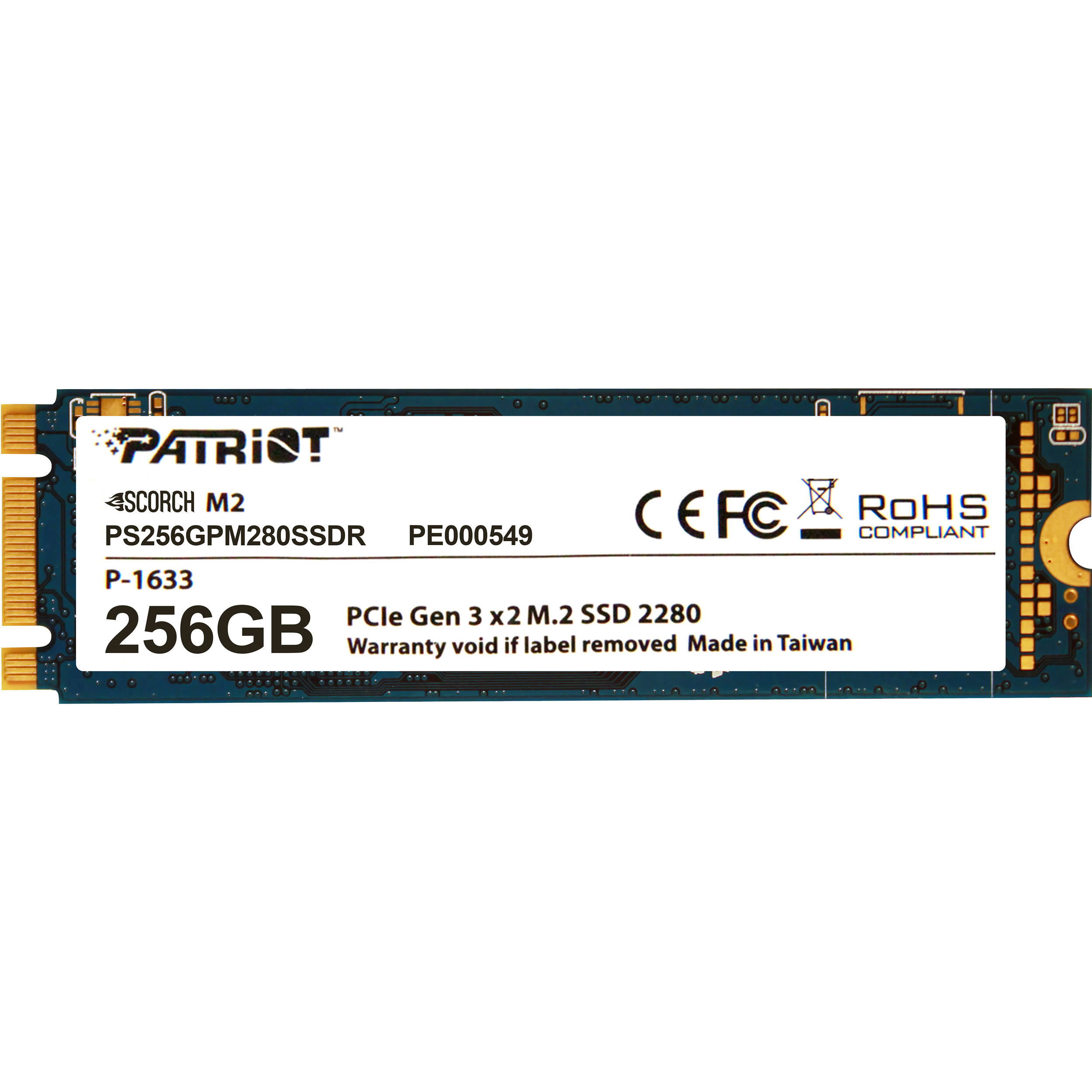 Patriot Scorch M 2 PCIe Solid State Drive (256GB)