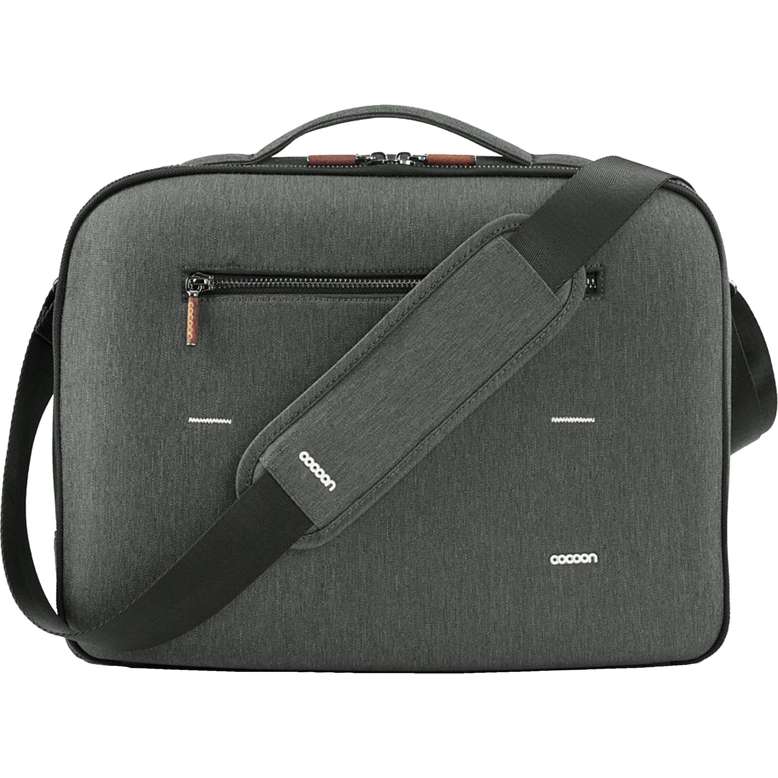 Co Graphite Brief 15 Macbook Pro Laptop Bag With Grid It