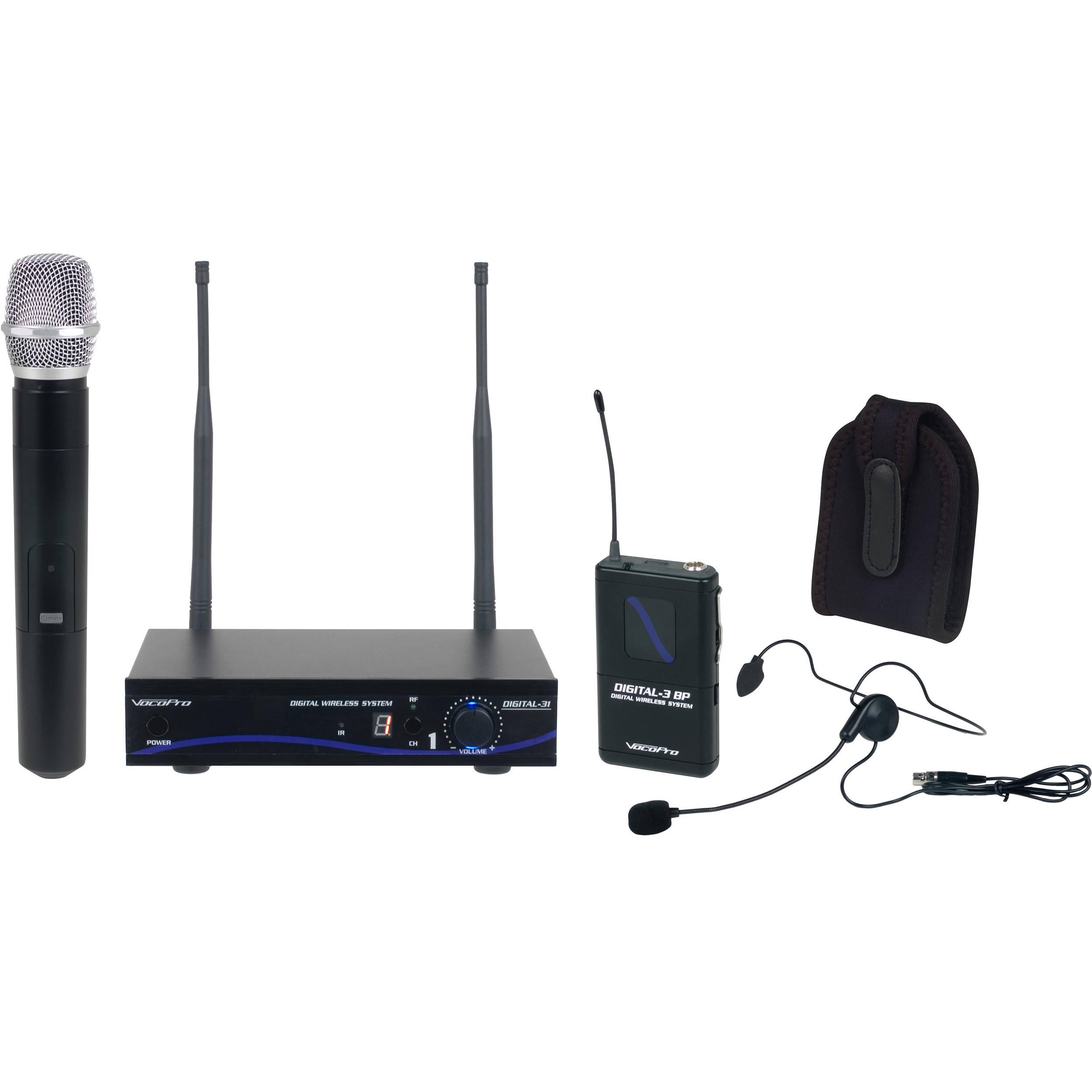 VocoPro Digital-31- Ultra Single-Channel Digital Wireless  Handheld/Headset/Instrument System