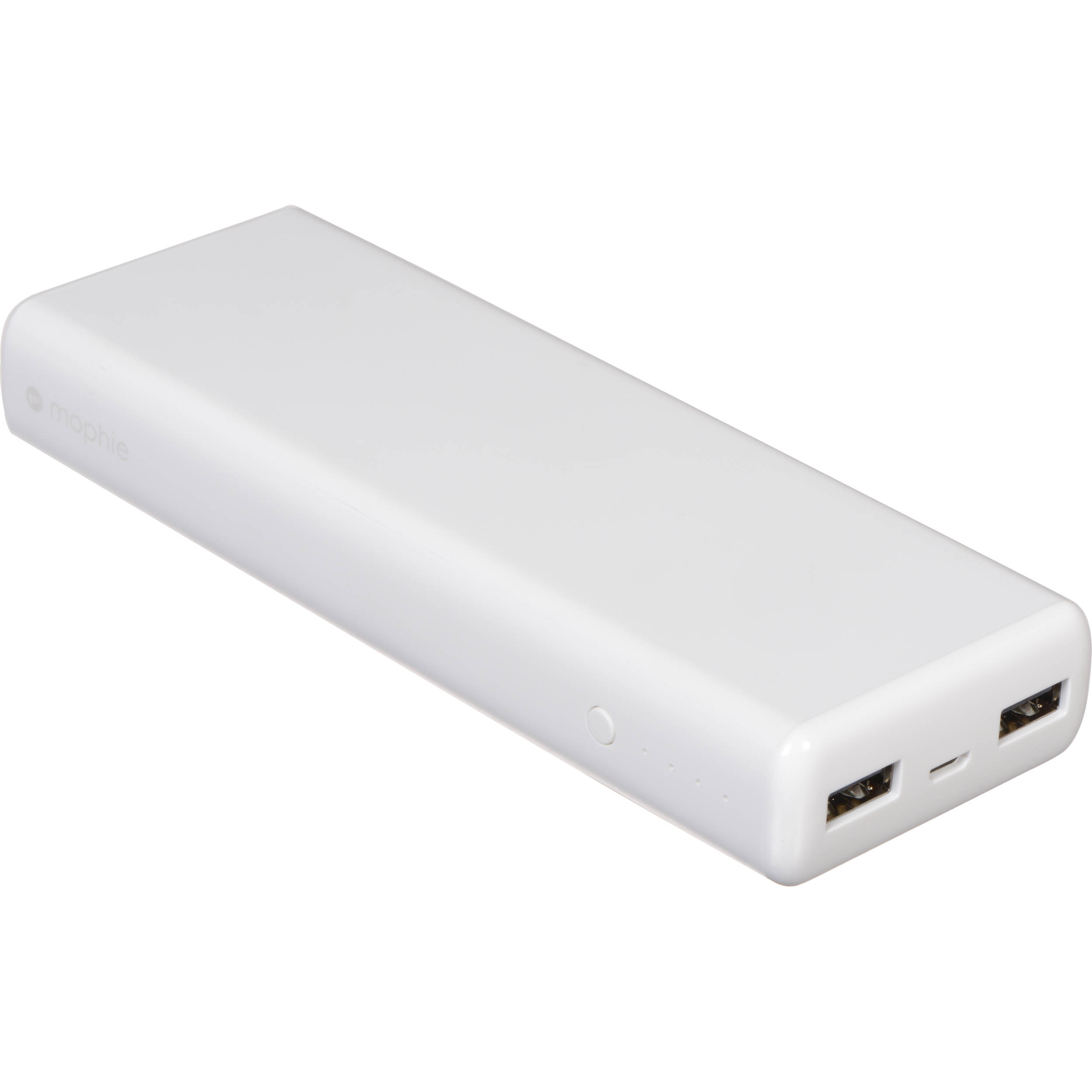 newest db4b1 95851 mophie power boost XL 10,400mAh Dual USB Portable Battery Pack (White)