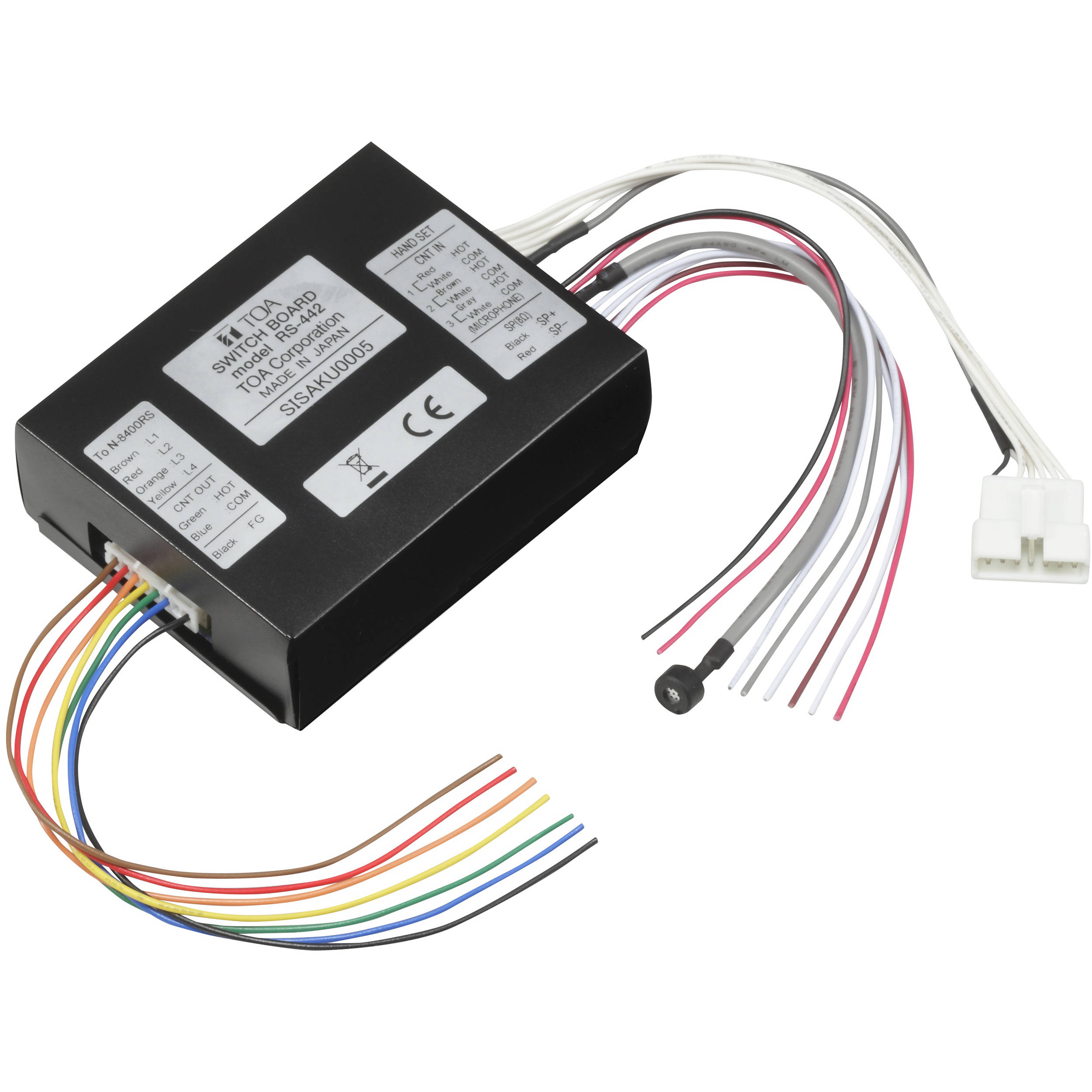 Toa Electronics RS-442 IP 4-Wire Intercom Switch Board for N-8400RS on