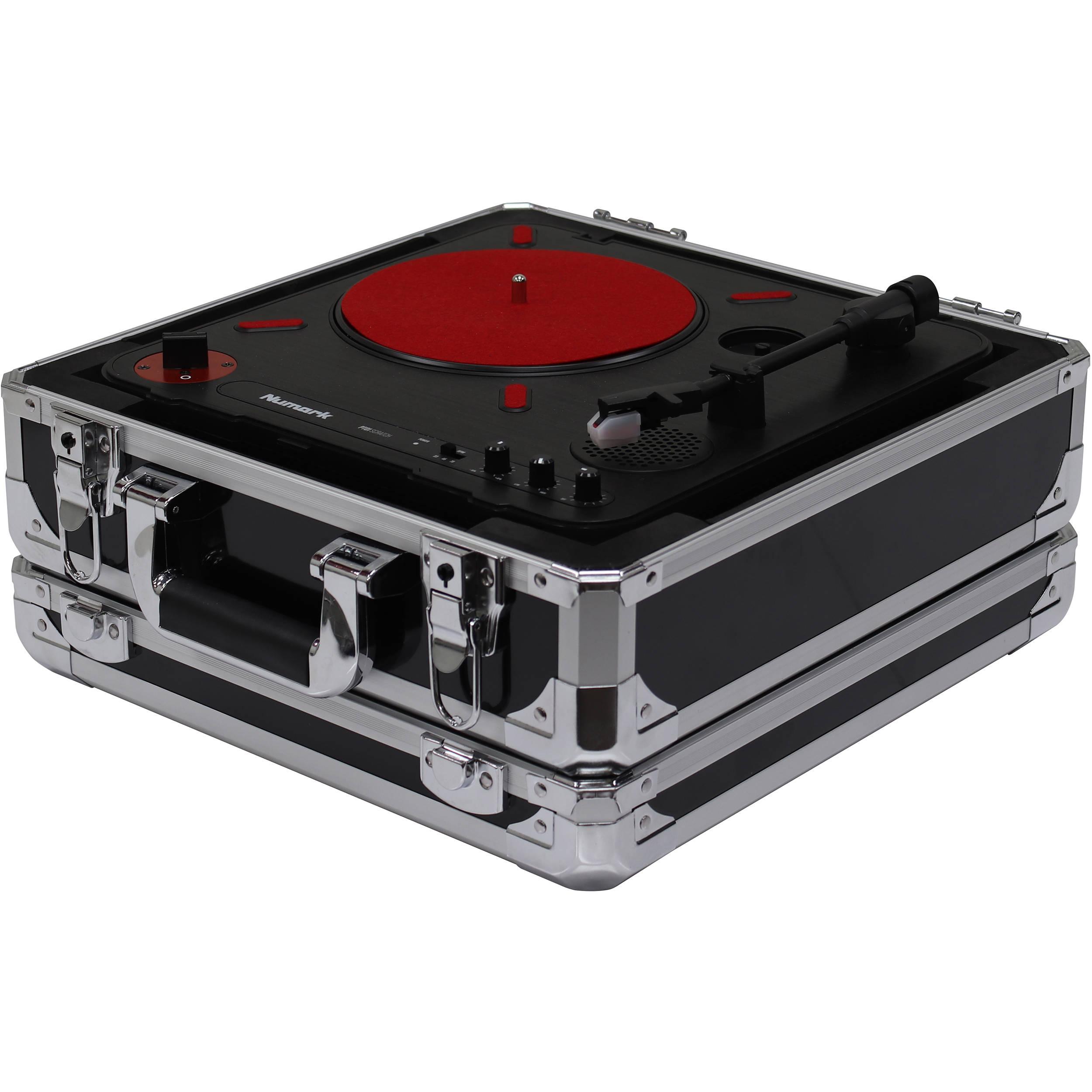 Odyssey Innovative Designs Krom Series Numark PT01 Scratch Portable  Turntable Case (Black)