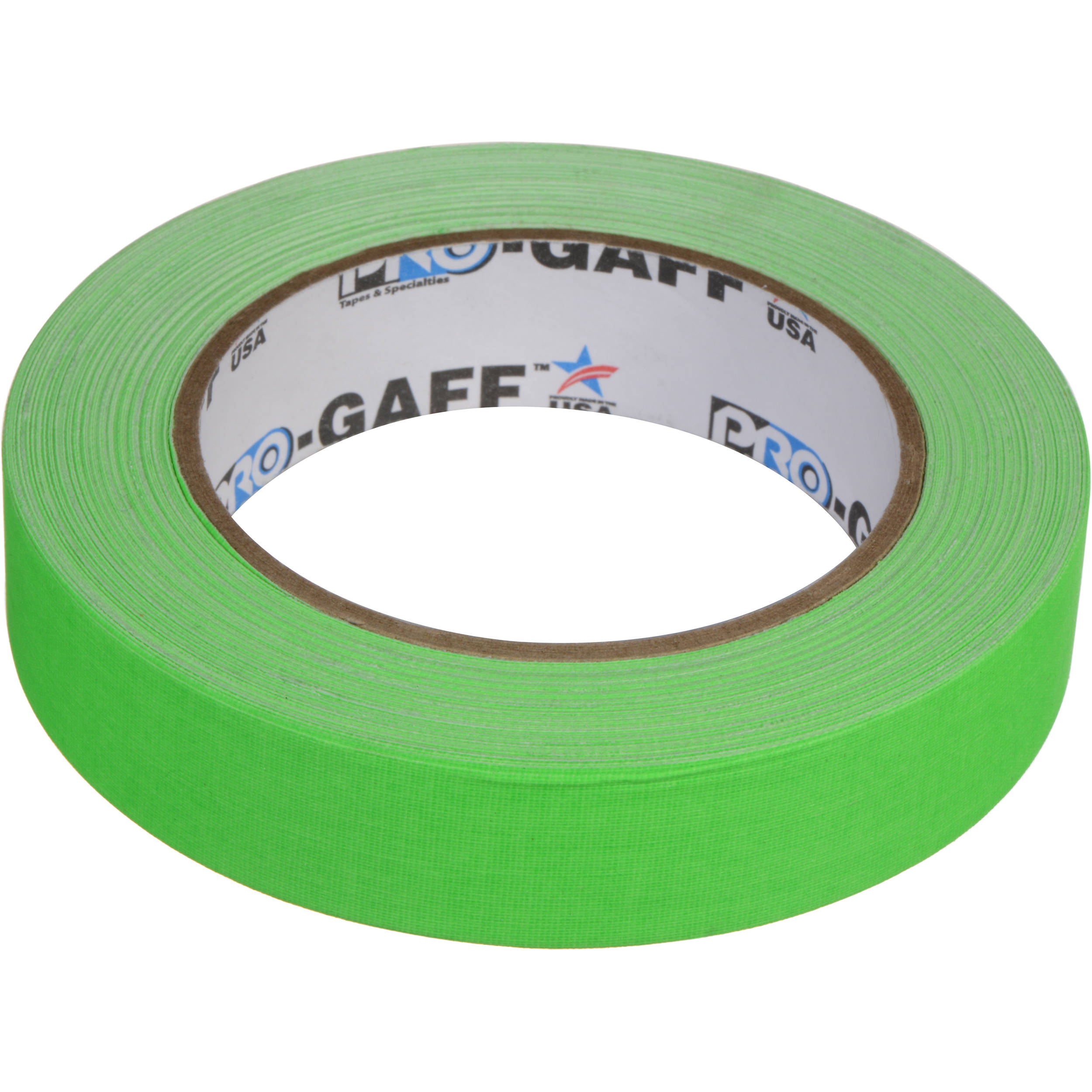 "Chroma Green Pro Tapes Gaffers Tape 1 Roll 3/"" x 50yd Pro Gaff"