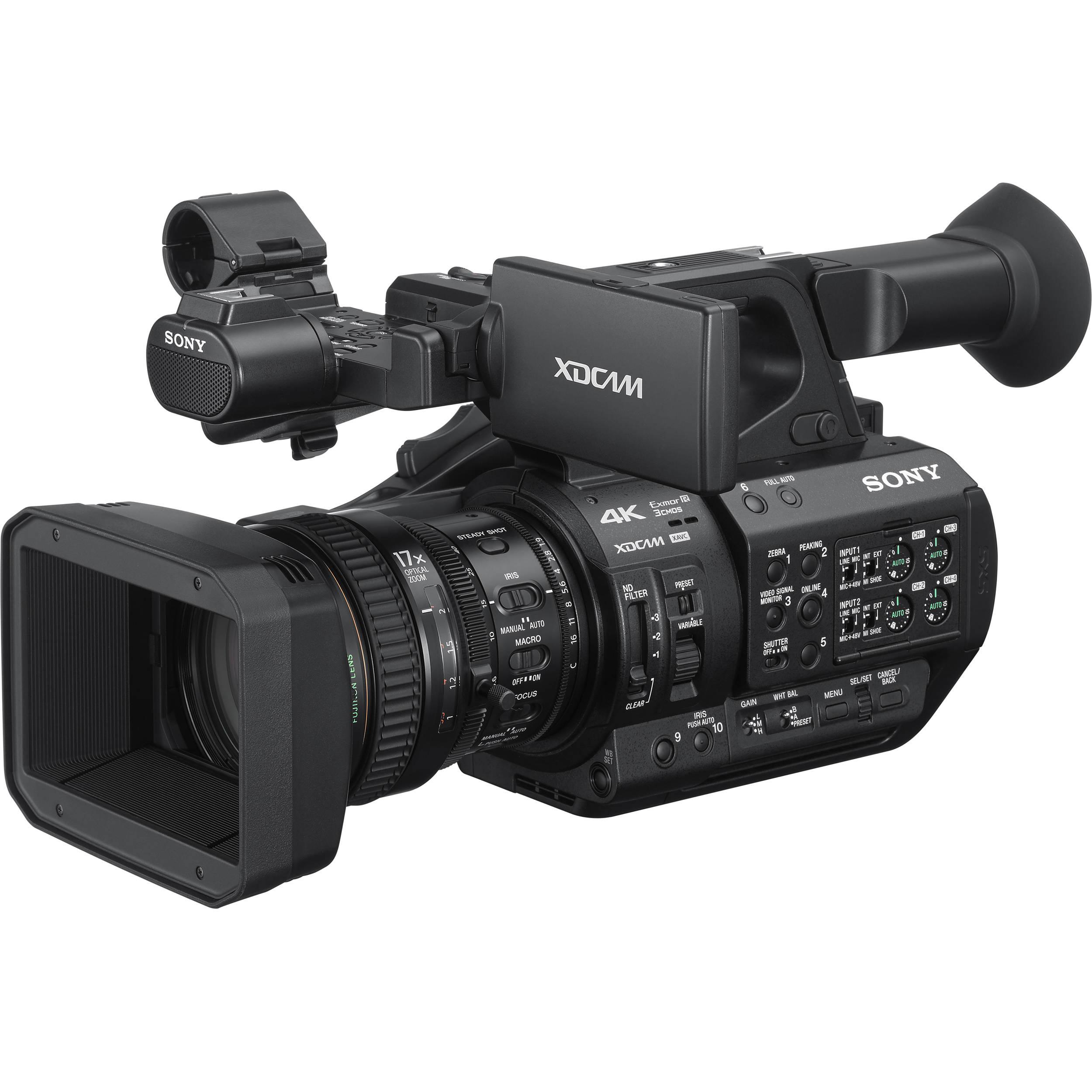Sony Pxw Z280 4k 3 Cmos 1 2 Sensor Xdcam Camcorder