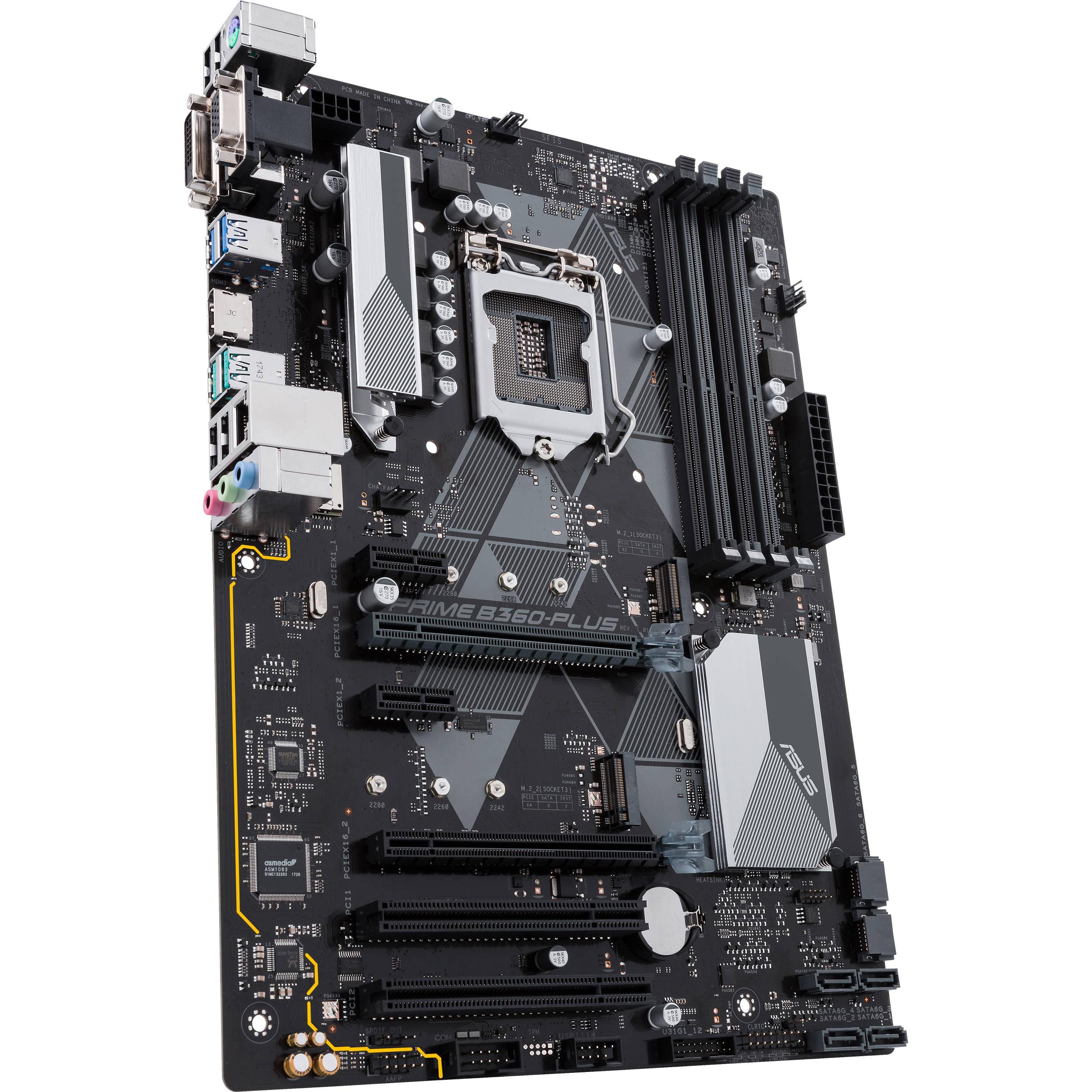 ASUS Prime B360-Plus LGA 1151 ATX Motherboard
