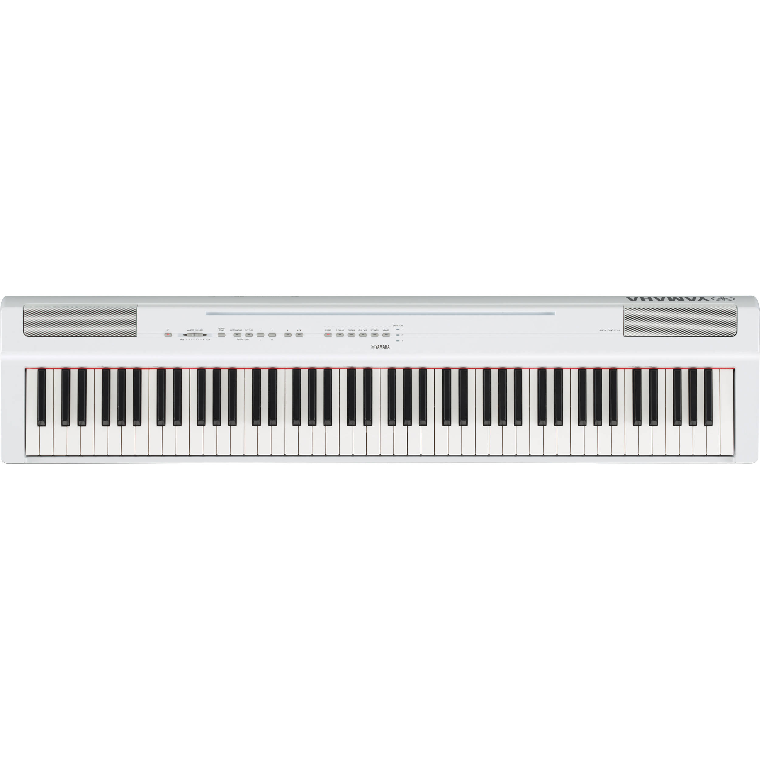 Yamaha P-125 88-Note Digital Piano with Weighted GHS Action (White)