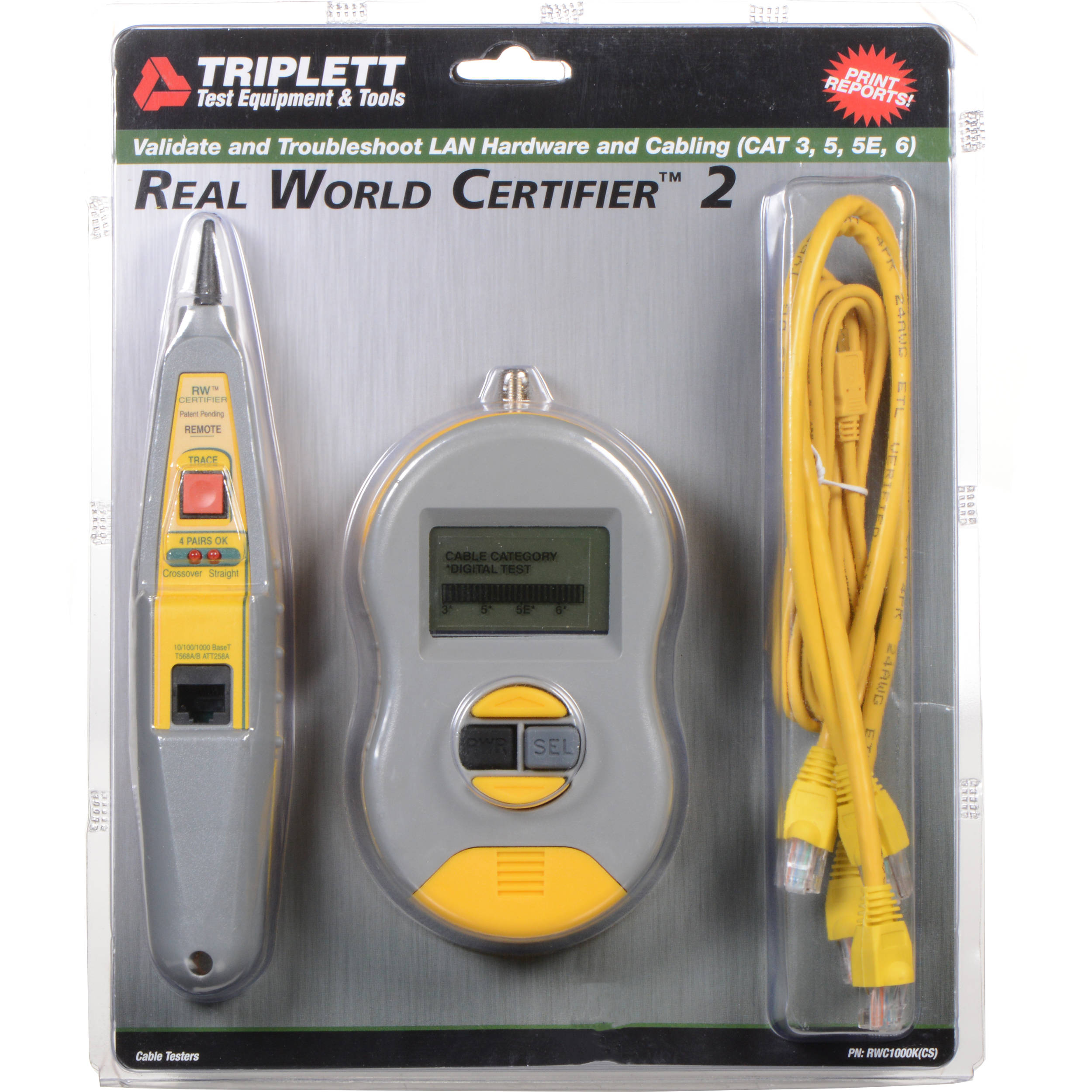 photograph relating to Cat6 Cable Tester With Printable Results identify Byte Brothers RWC1000K True Globe Certifier (Printing)