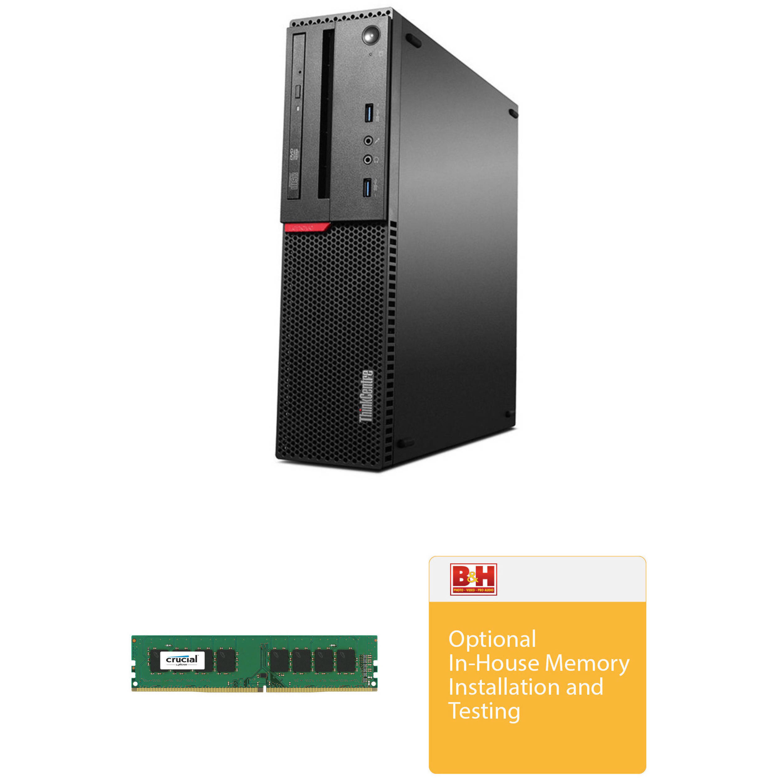 Lenovo ThinkCentre M700 Small Form Factor Desktop Computer with 8GB of DDR4  RAM & Installation Kit