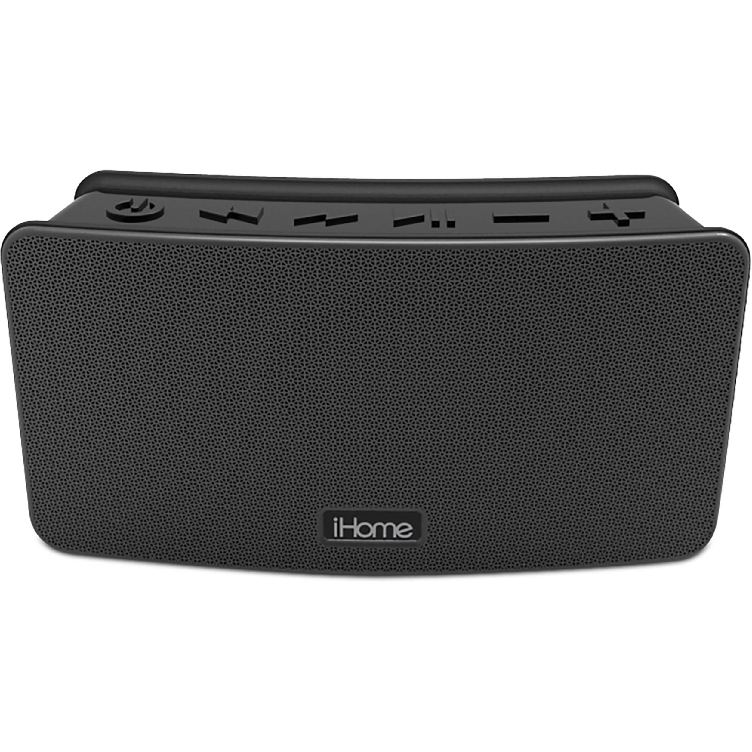 iHome iBT39B Waterproof Rechargeable Bluetooth Speaker IBT39B