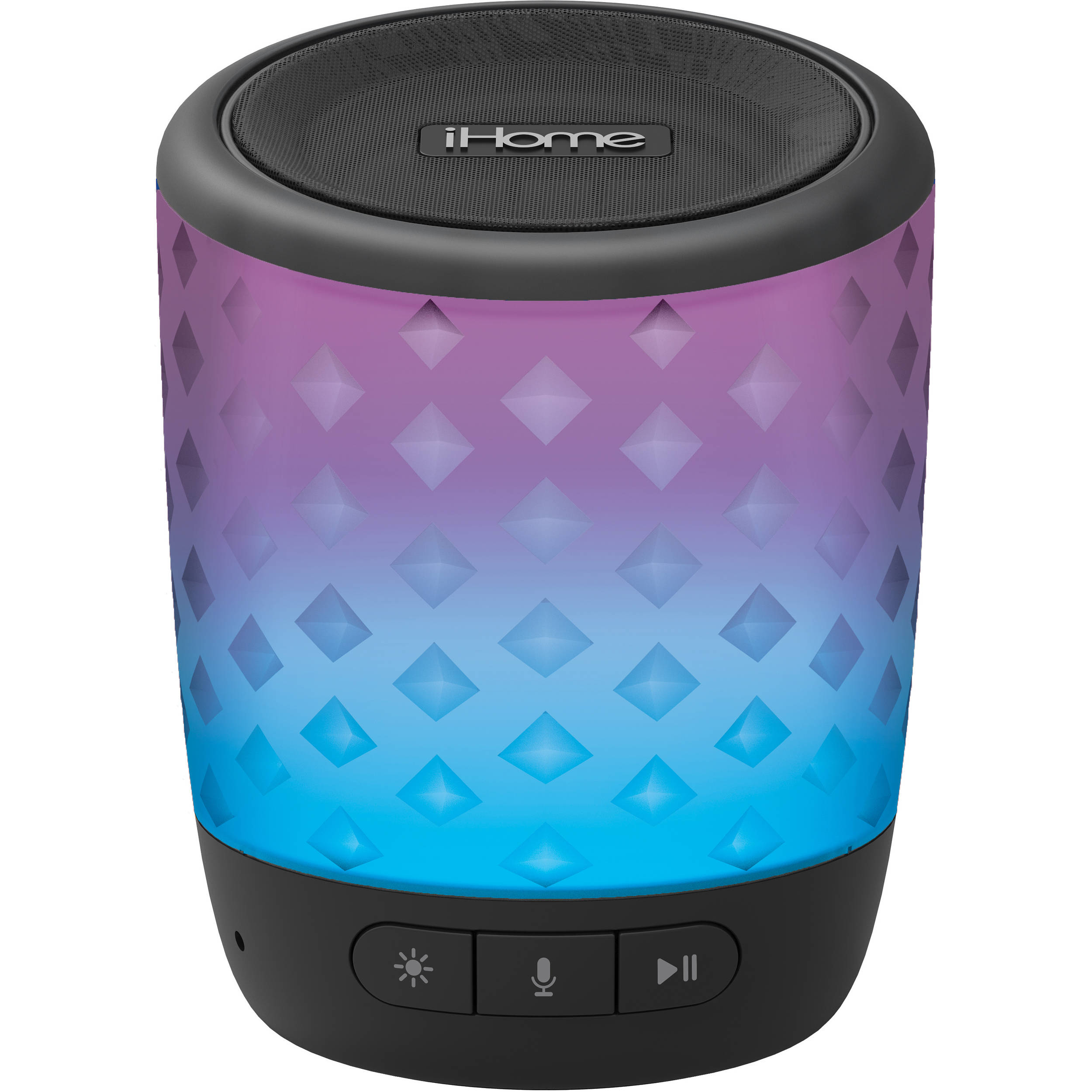 iHome iBT10B Color Changing Rechargeable Bluetooth Speaker