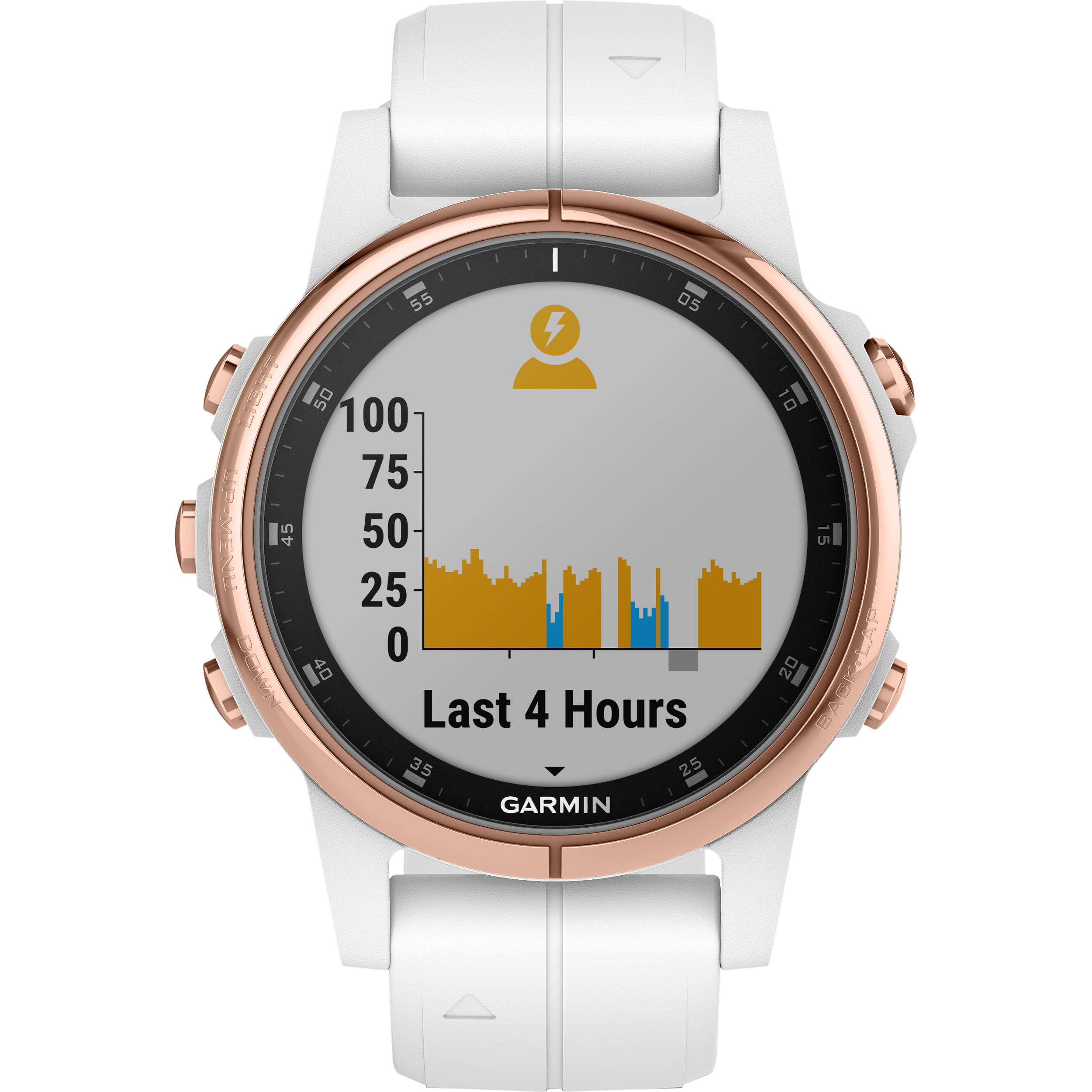 Garmin fenix 5S Plus Sapphire Edition Multi-Sport Training GPS Watch (42mm,  Rose Gold-Tone with Carrara White Band)