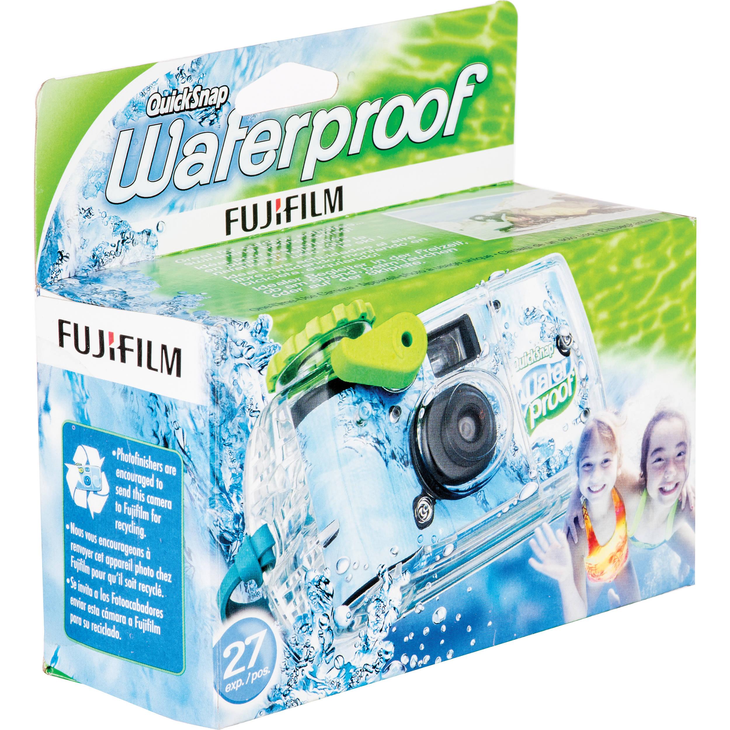 Pack of 2 FujiFilm Quicksnap Waterproof Disposable Camera Exp 12//2019
