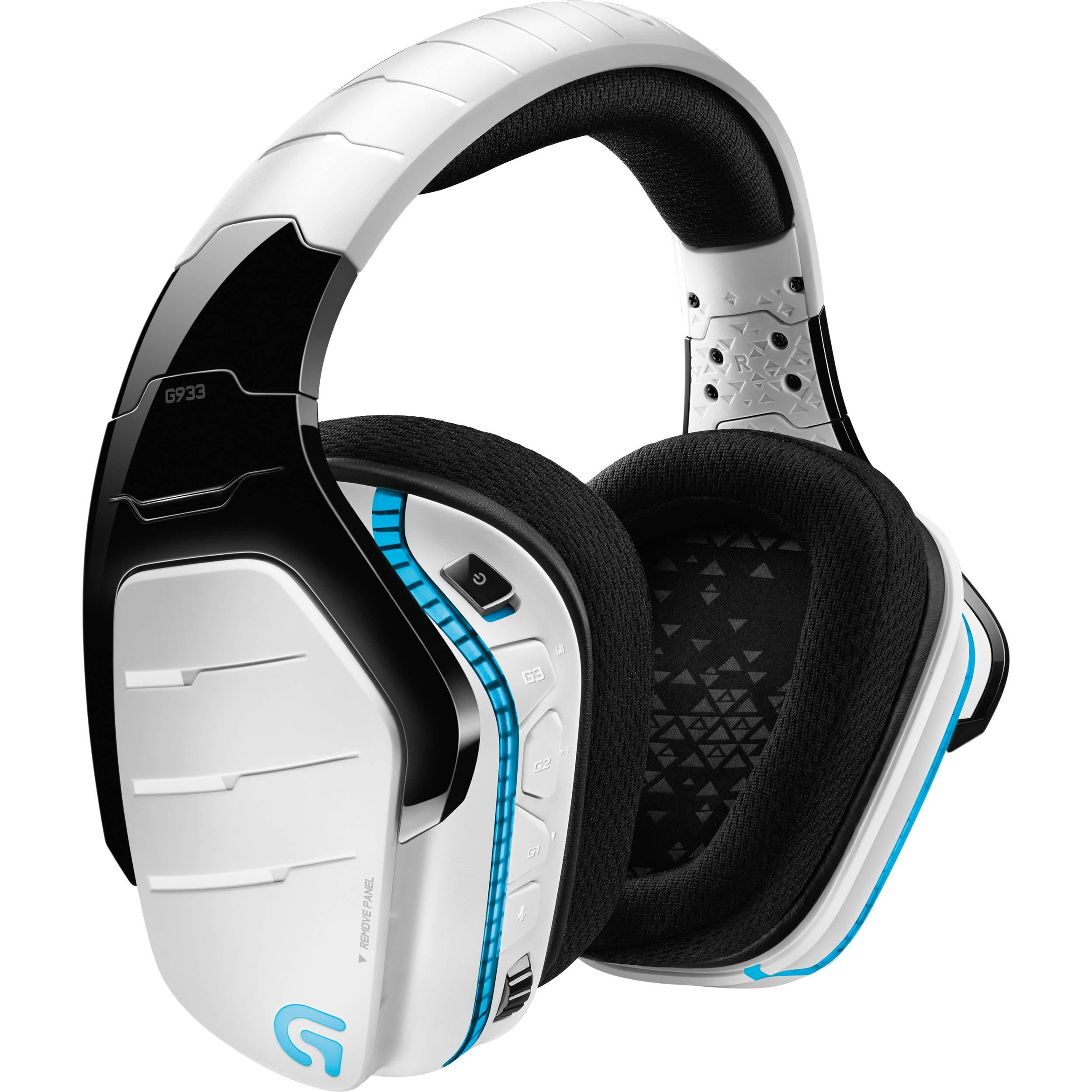 Logitech G933 Artemis Spectrum Wireless 7 1 Gaming Headset (White)