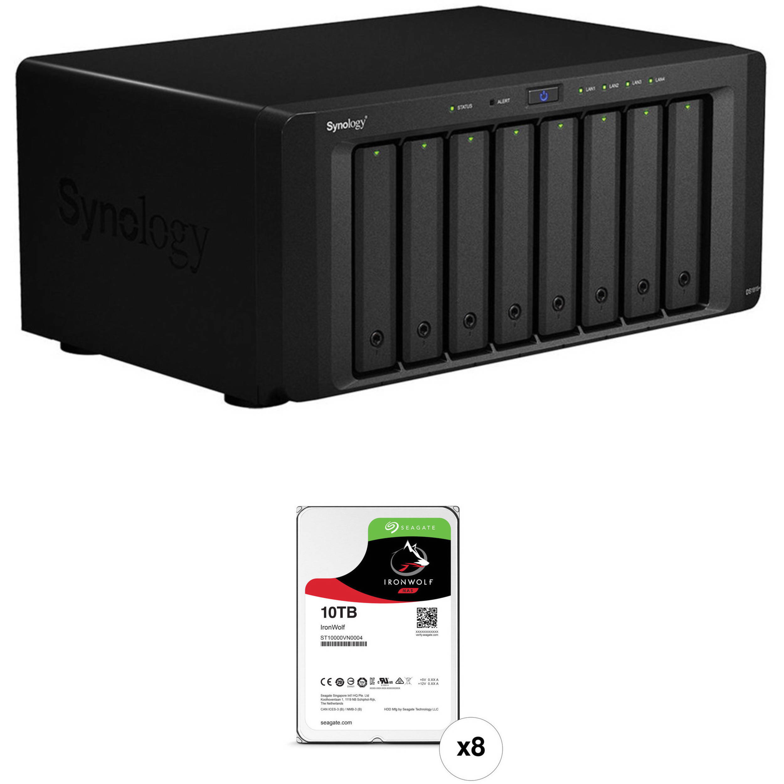 Synology DiskStation 80TB DS1815+ 8-Bay NAS Server (8 x 10TB)