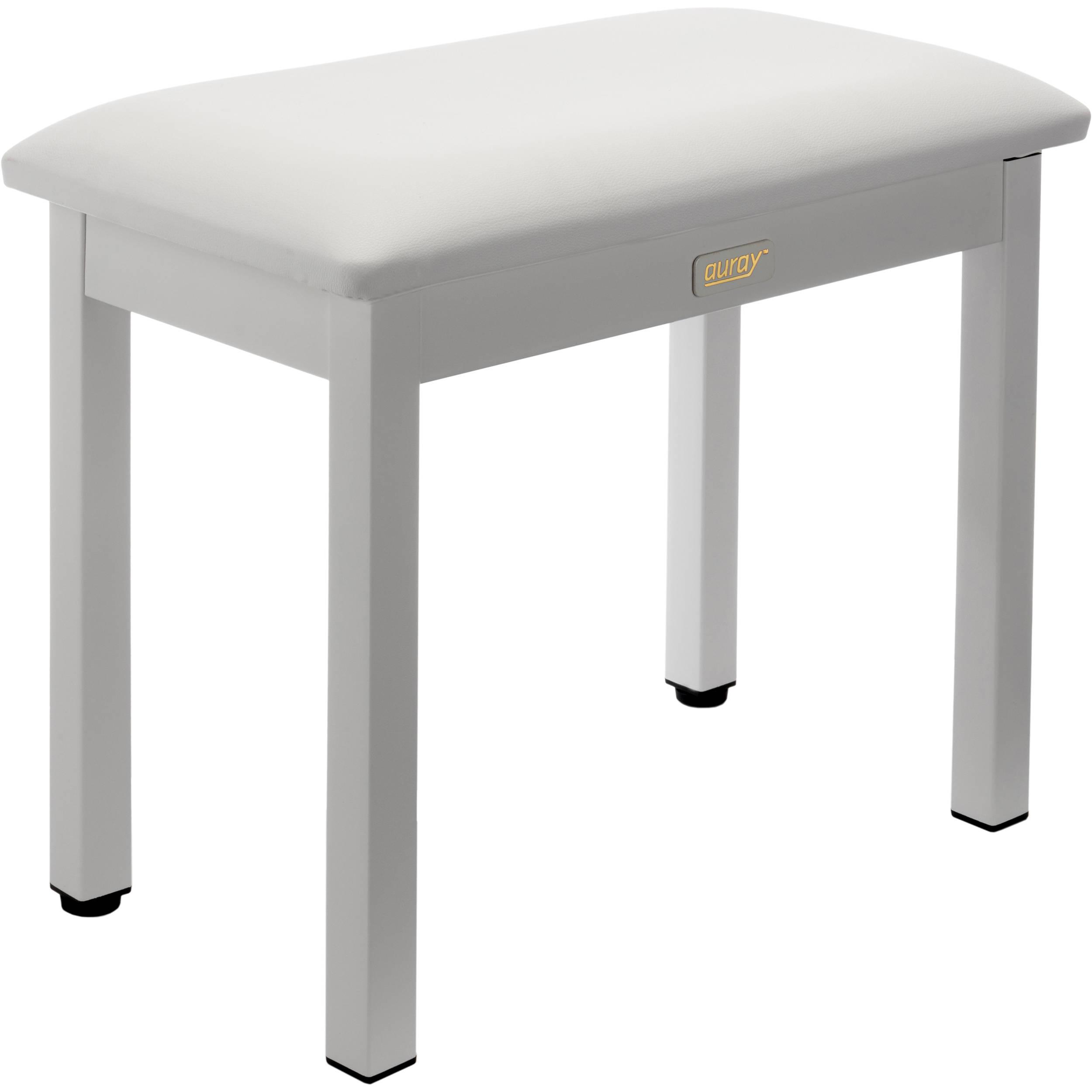 Sensational Auray Pbm Fw Metal Frame Piano Bench White Pabps2019 Chair Design Images Pabps2019Com