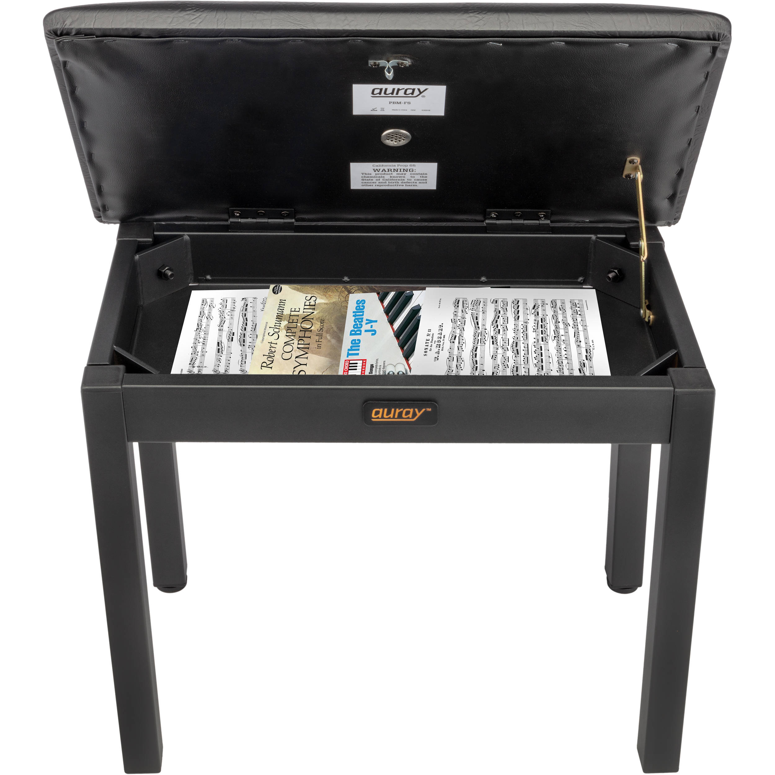 Stupendous Auray Pbm Fs Metal Frame Piano Bench With Storage Black Pabps2019 Chair Design Images Pabps2019Com