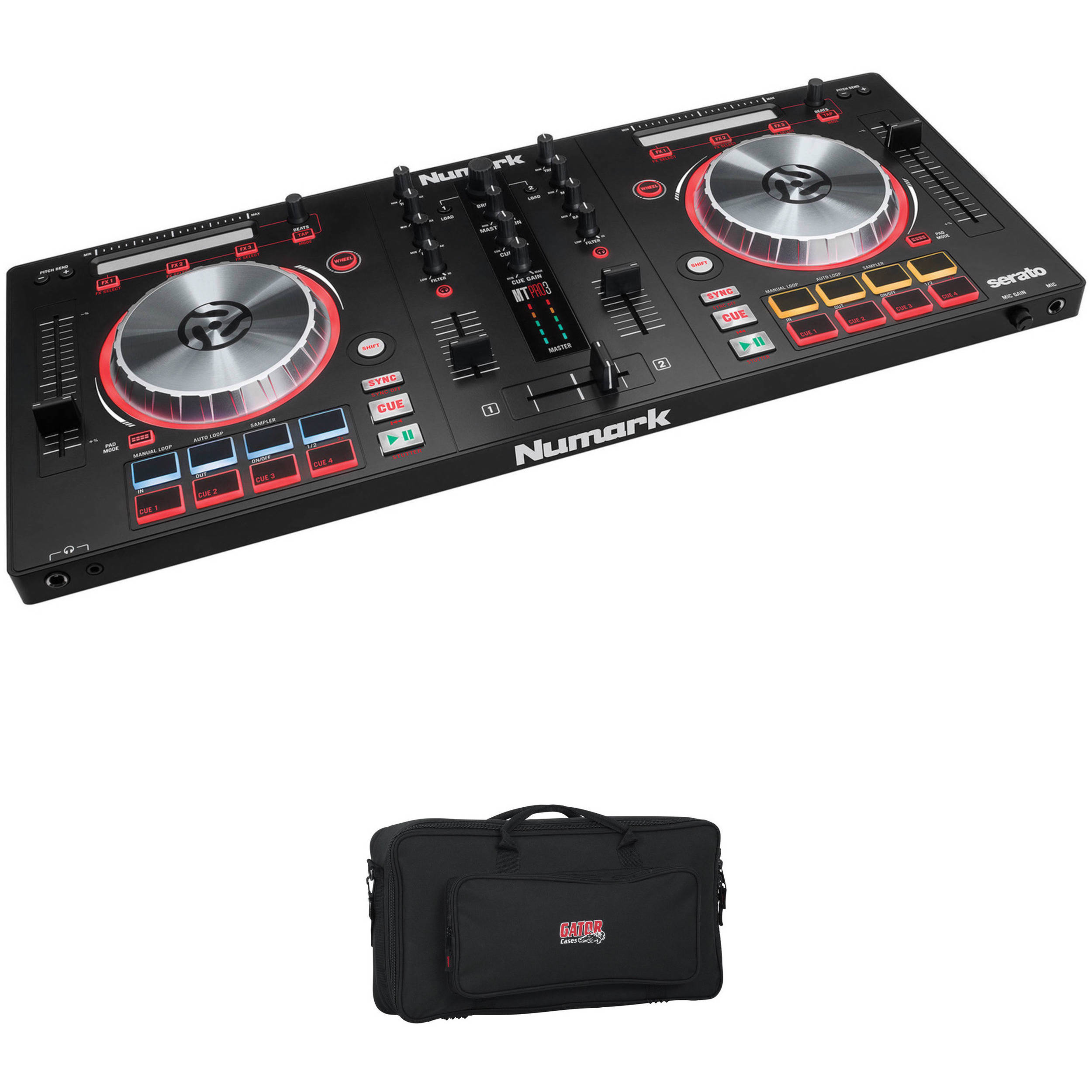 Numark Dj Pro Controller With Kit 3 Mixtrack Bag Gig Padded vm0y8nPONw