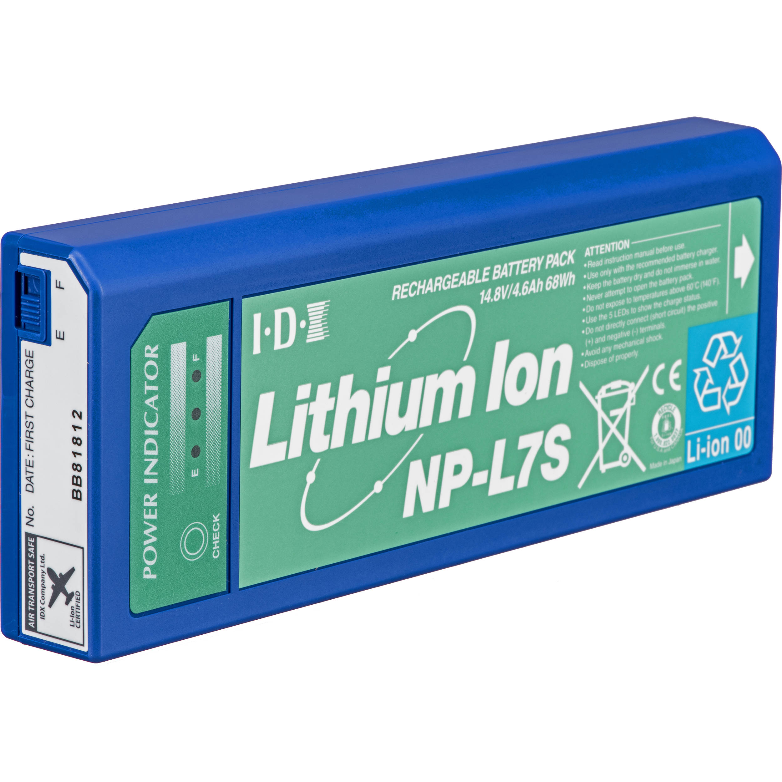 Lithium Ion Battery >> Idx System Technology Np L7s Np Style Lithium Ion Battery