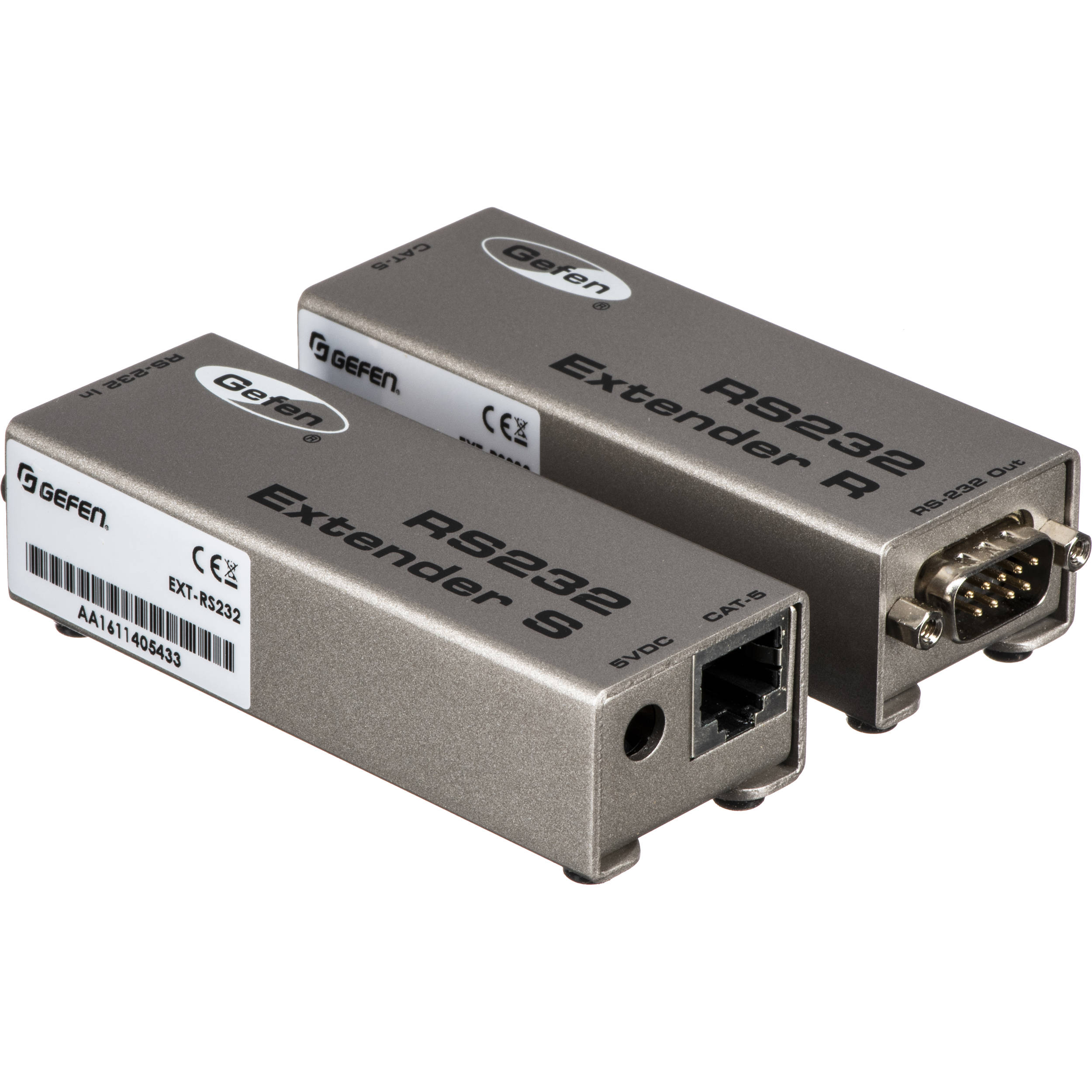 Gefen RS232 Serial Extender Sender With Receiver with Power Supply