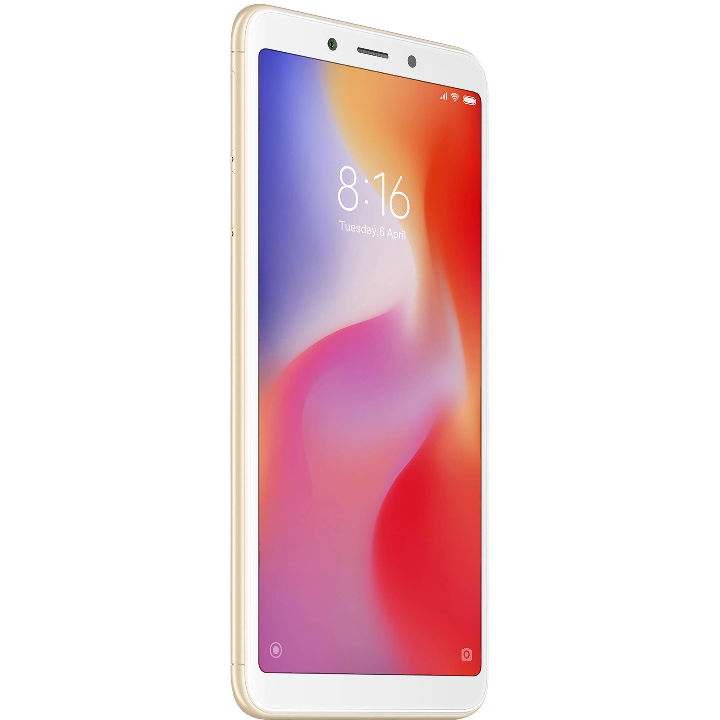 Xiaomi Redmi 6A Dual-SIM 16GB Smartphone (Unlocked, Gold)