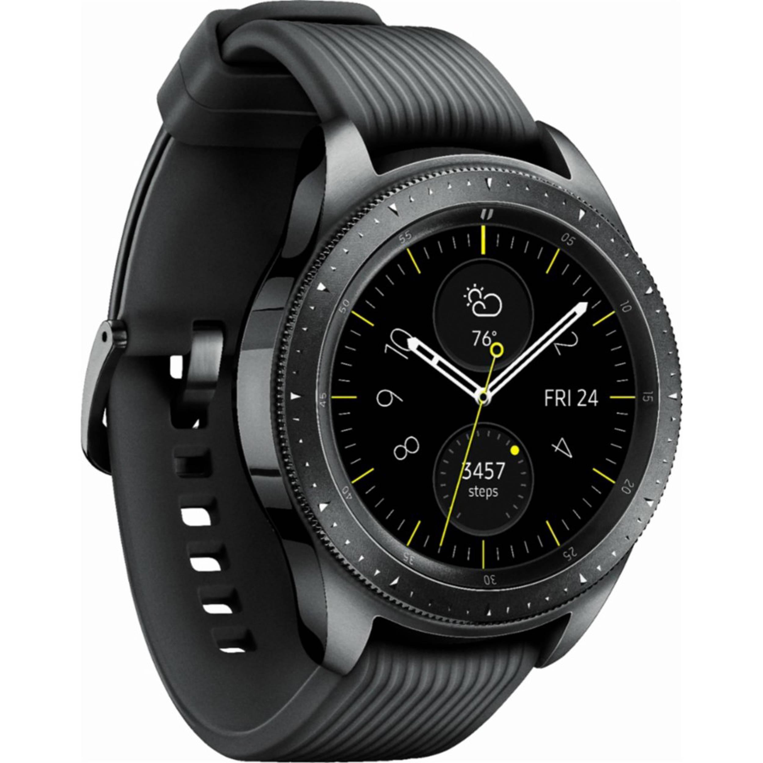 Samsung Galaxy Watch (42mm, GPS, Bluetooth, Unlocked LTE) – Midnight Black (US Version)
