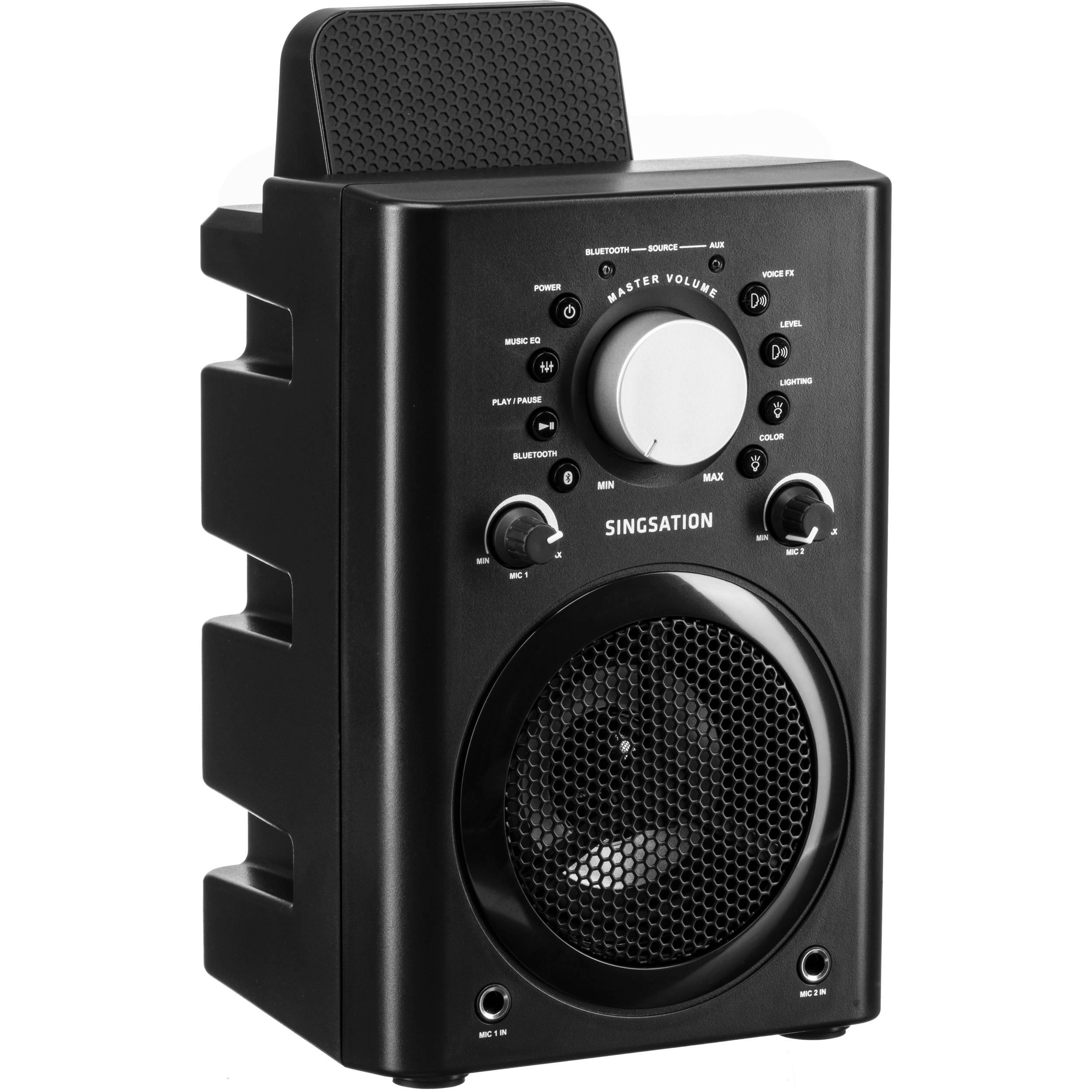 808 Audio Classic Bluetooth Karaoke System with Wireless Speaker (Black)