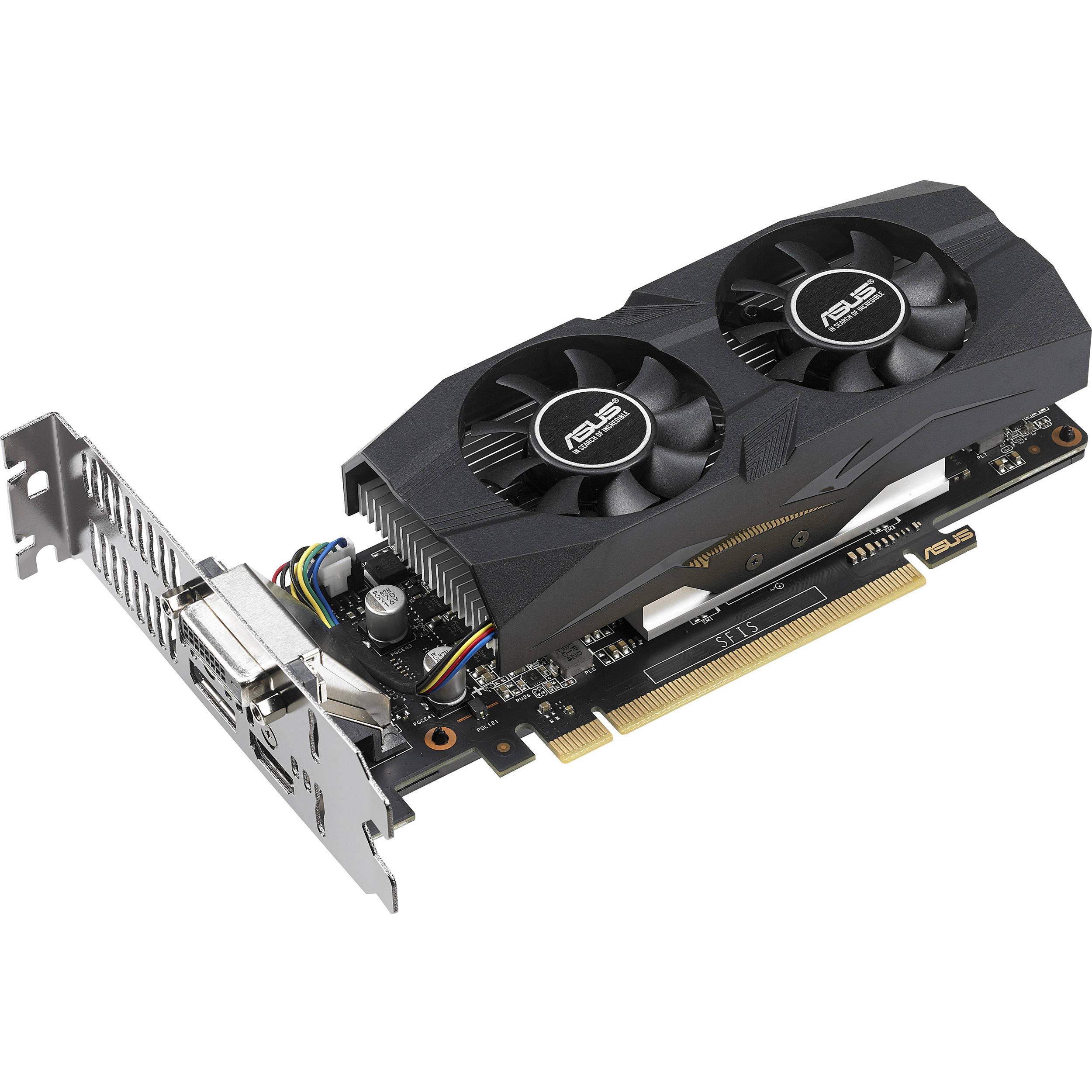 Image result for ASUS GeForce 4GB HDMI 2.0 DP 1.4 DVI Graphics Card (GTX1050TI-O4G-LP-BRK)