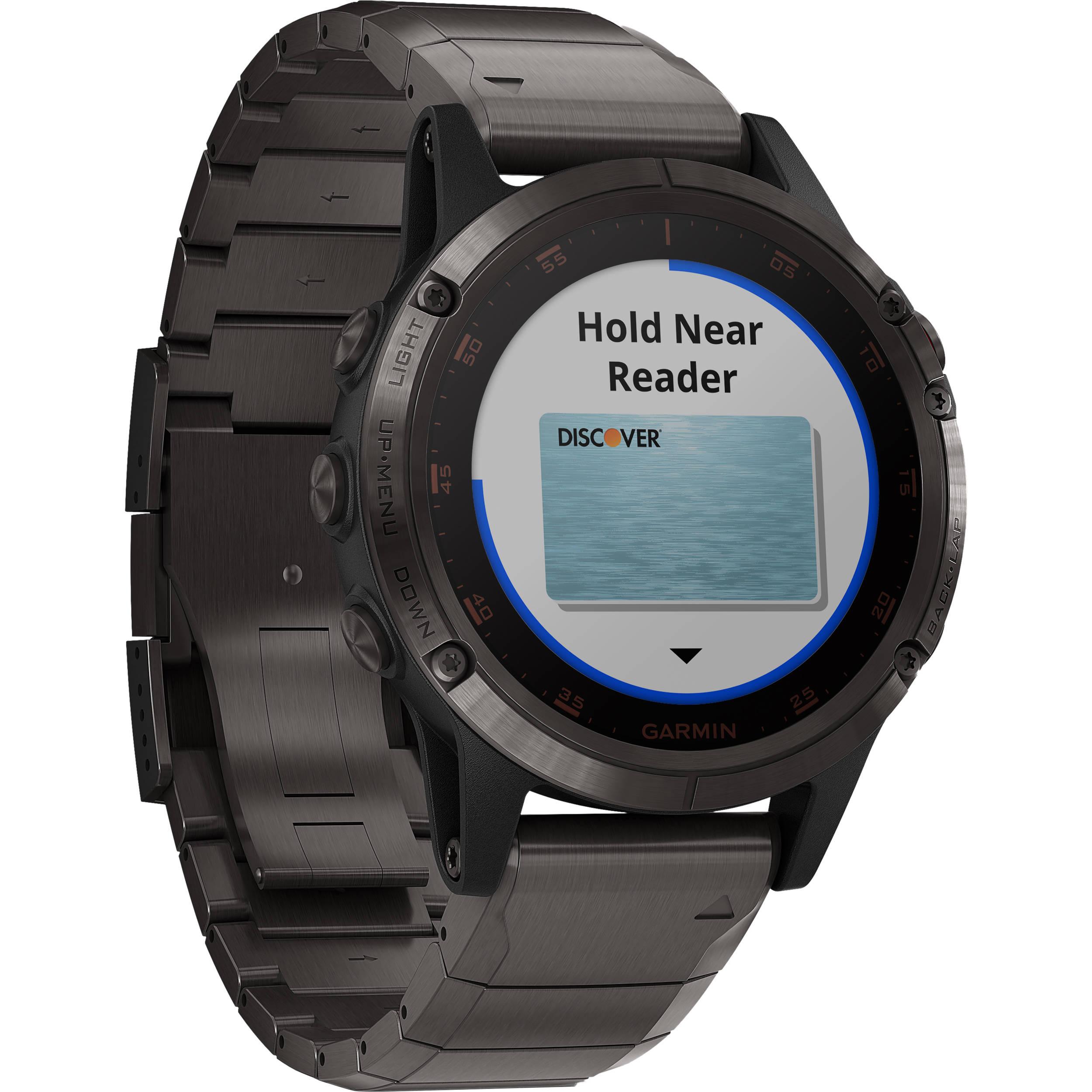 Garmin fenix 5 Plus Sapphire Edition Multi-Sport Training GPS Watch (47mm,  Carbon Gray DLC Titanium with DLC Titanium Band)