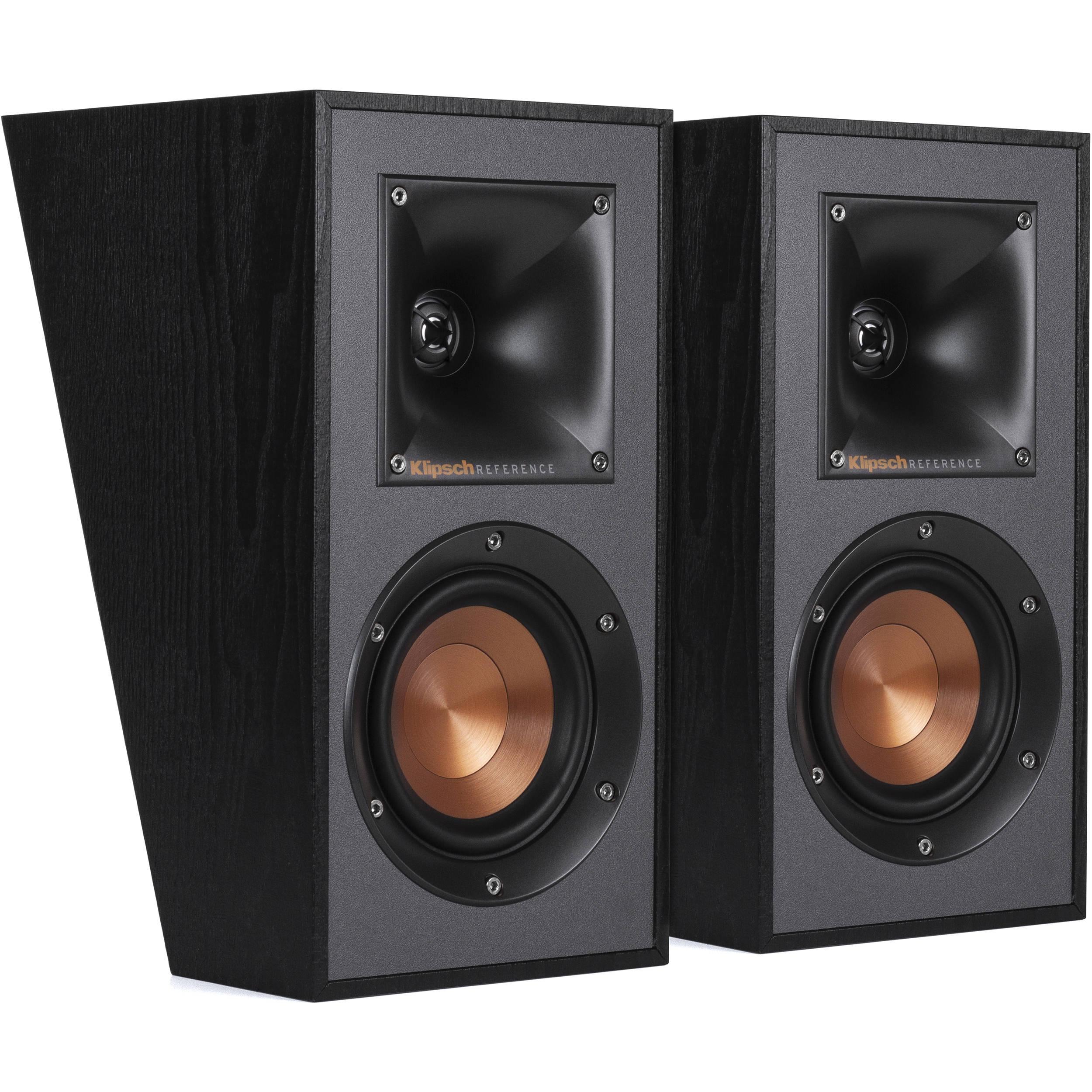 Klipsch Surround Sound >> Klipsch Reference R 41sa Dolby Atmos Speakers Black Pair
