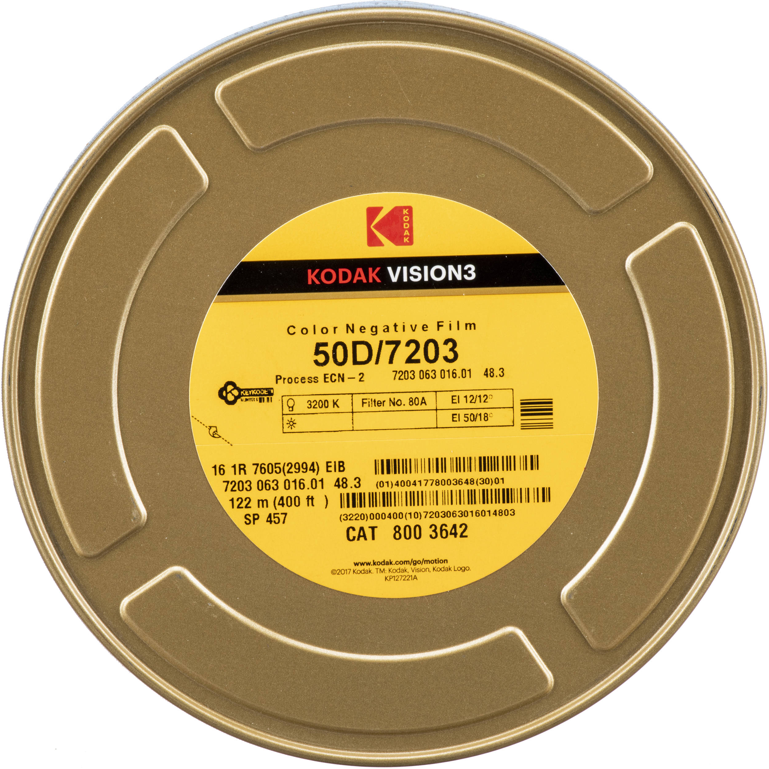 Kodak Vision3 50d Color Negative Film 7203 16mm 400 Roll