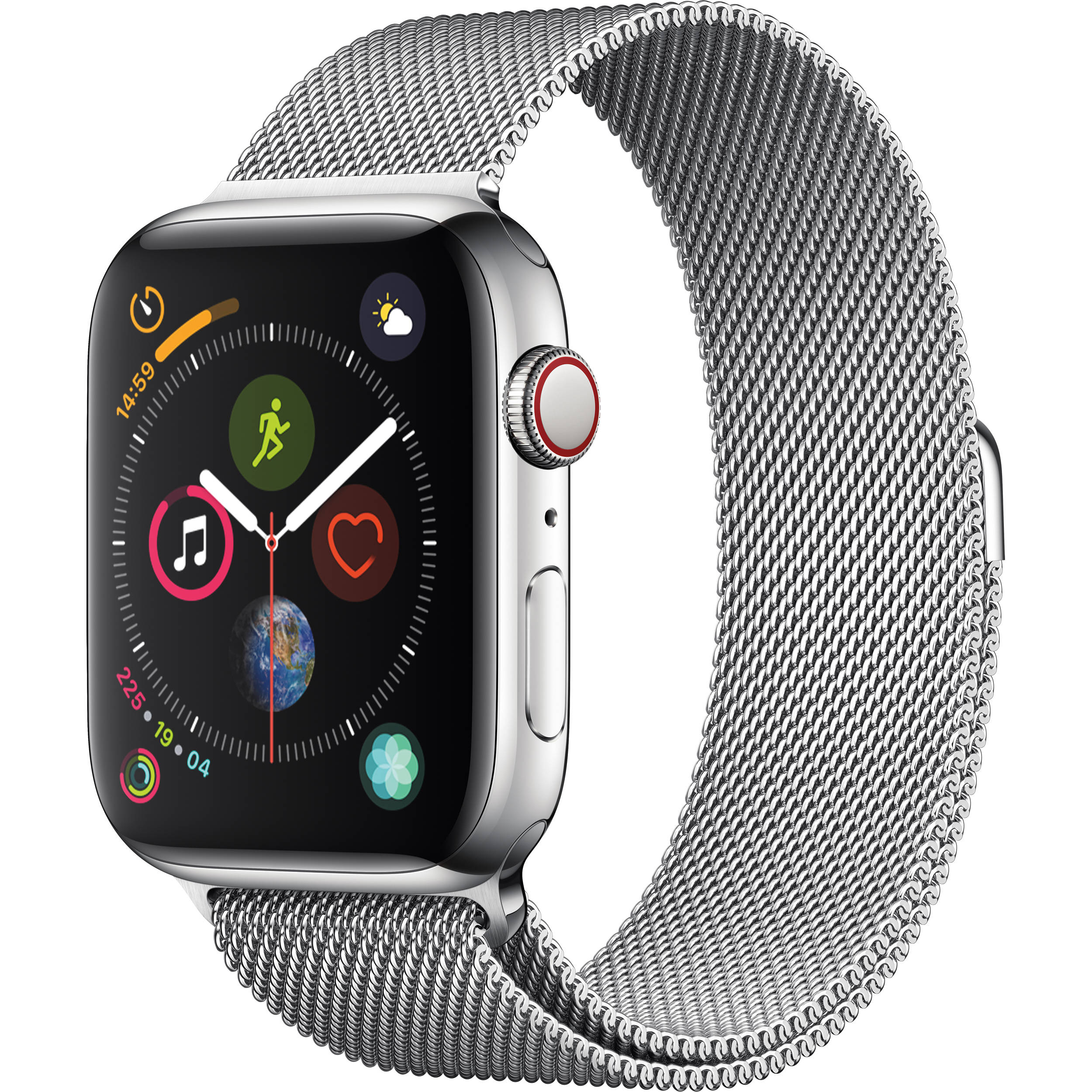 the latest 650c8 bc377 Apple Watch Series 4 (GPS + Cellular, 44mm, Stainless Steel, Milanese Loop)