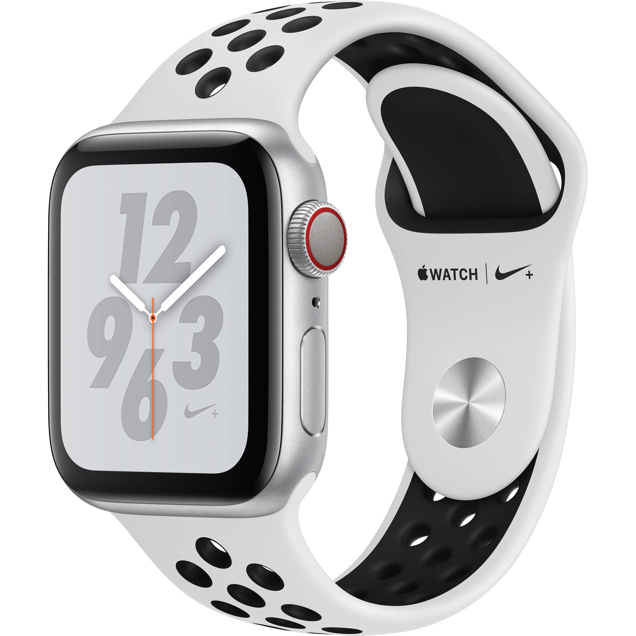 authorized site famous brand release date Apple Watch Nike+ Series 4 (GPS + Cellular, 40mm, Silver Aluminum, Pure  Platinum/Black Nike Sport Band)