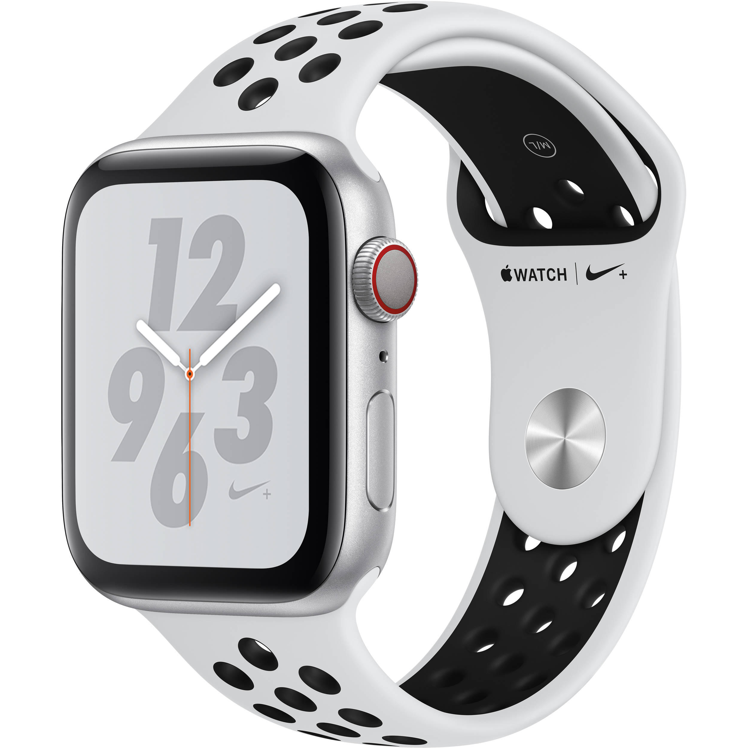 factory price wide range new collection Apple Watch Nike+ Series 4 (GPS + Cellular, 44mm, Silver Aluminum, Pure  Platinum/Black Nike Sport Band)