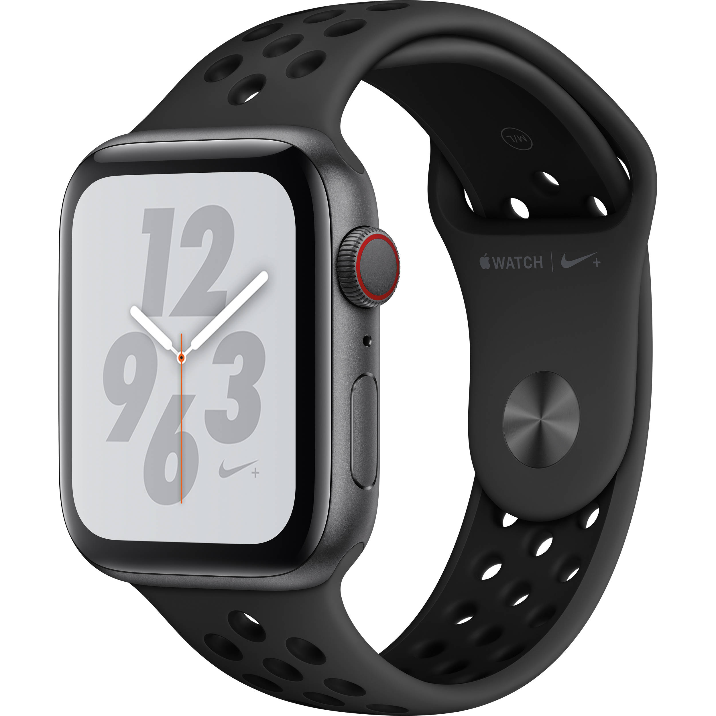 Apple Watch Nike+ Series 4 (GPS + Cellular, 44mm, Space Gray Aluminum,  Anthracite/Black Nike Sport Band)