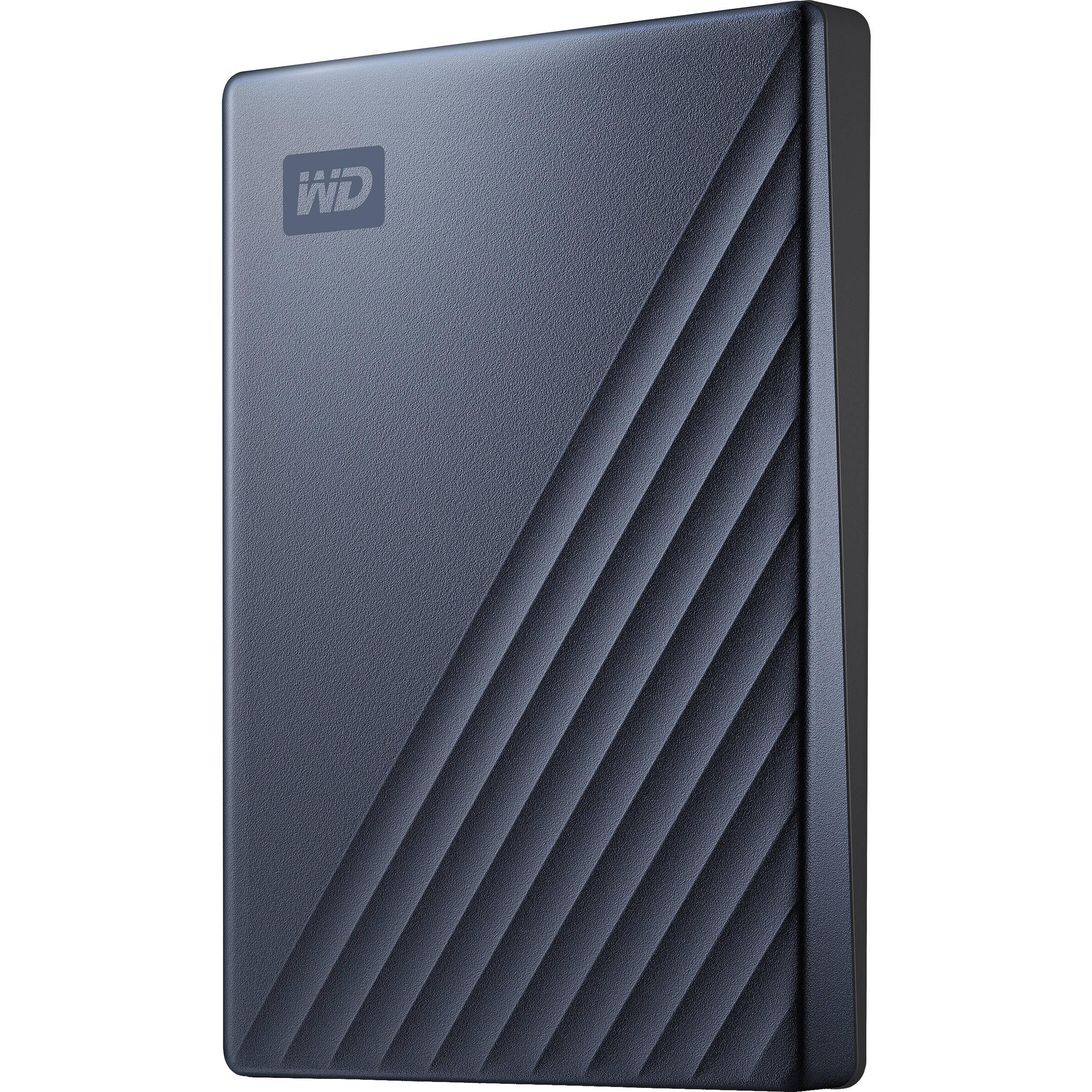 WD 2TB My Passport Ultra USB 3 0 Type-C External Hard Drive (Blue)