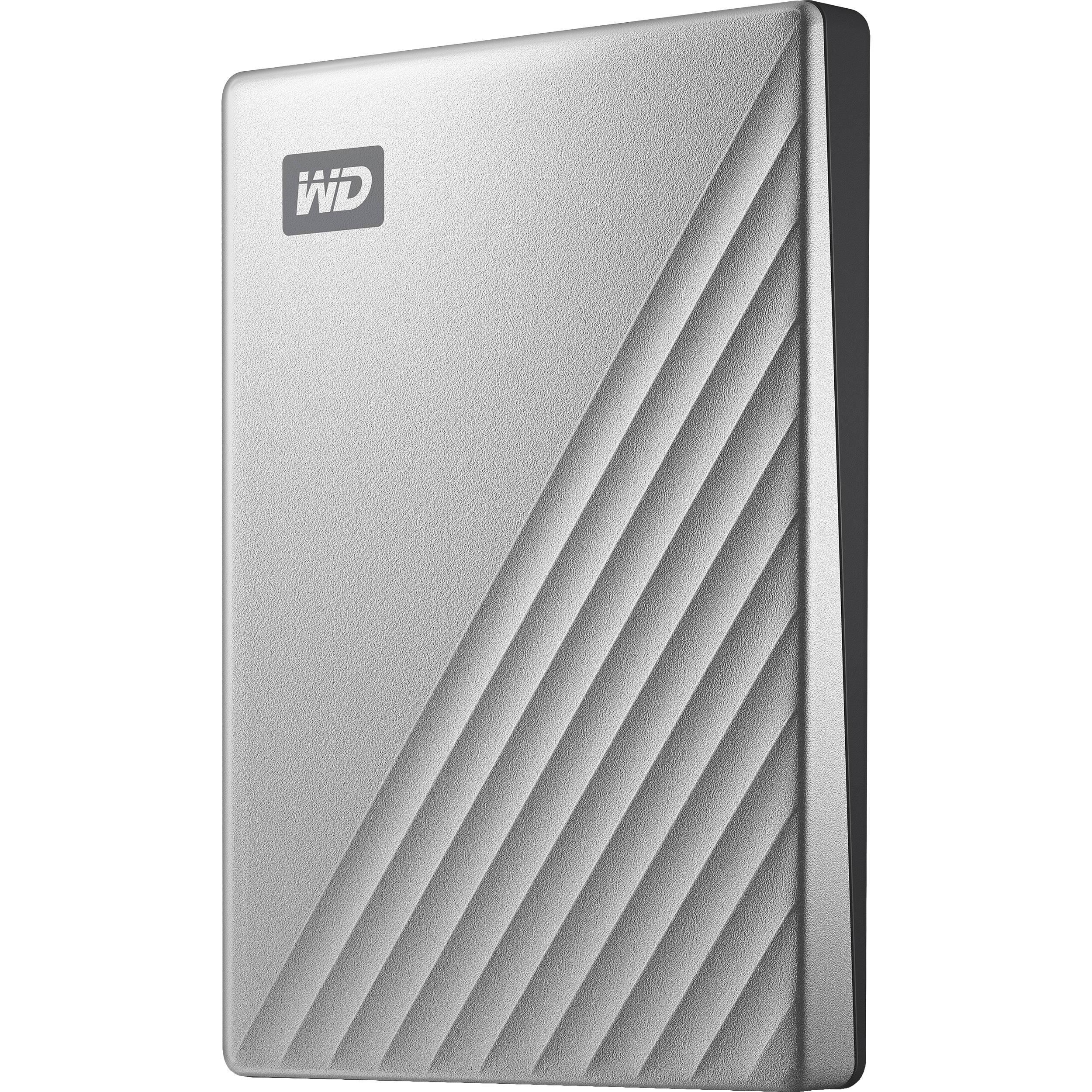 WD 2TB My Passport Ultra USB 3 0 Type-C External Hard Drive for Mac (Silver)