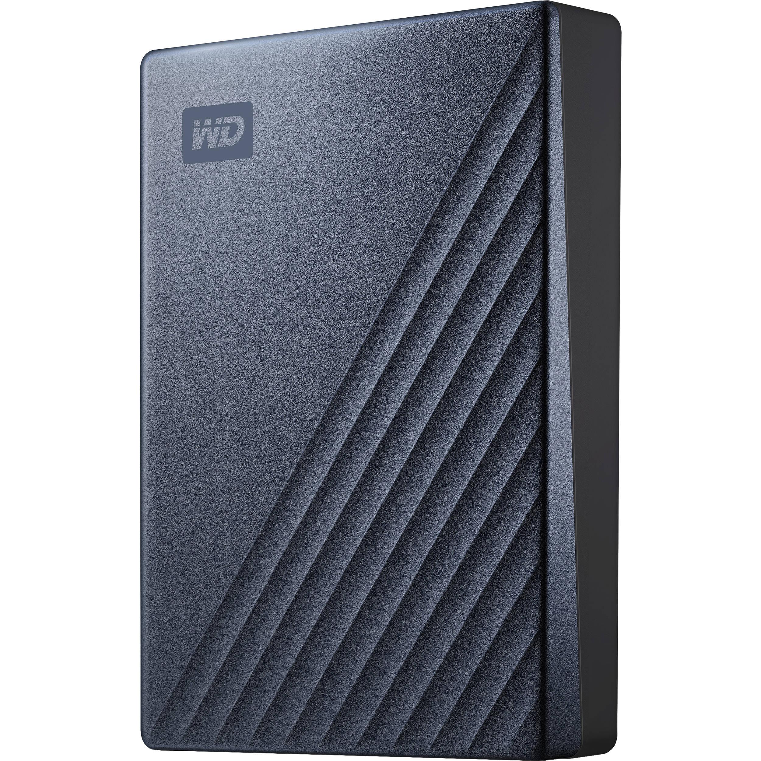 WD 4TB My Passport Ultra USB 3 0 Type-C External Hard Drive (Blue)