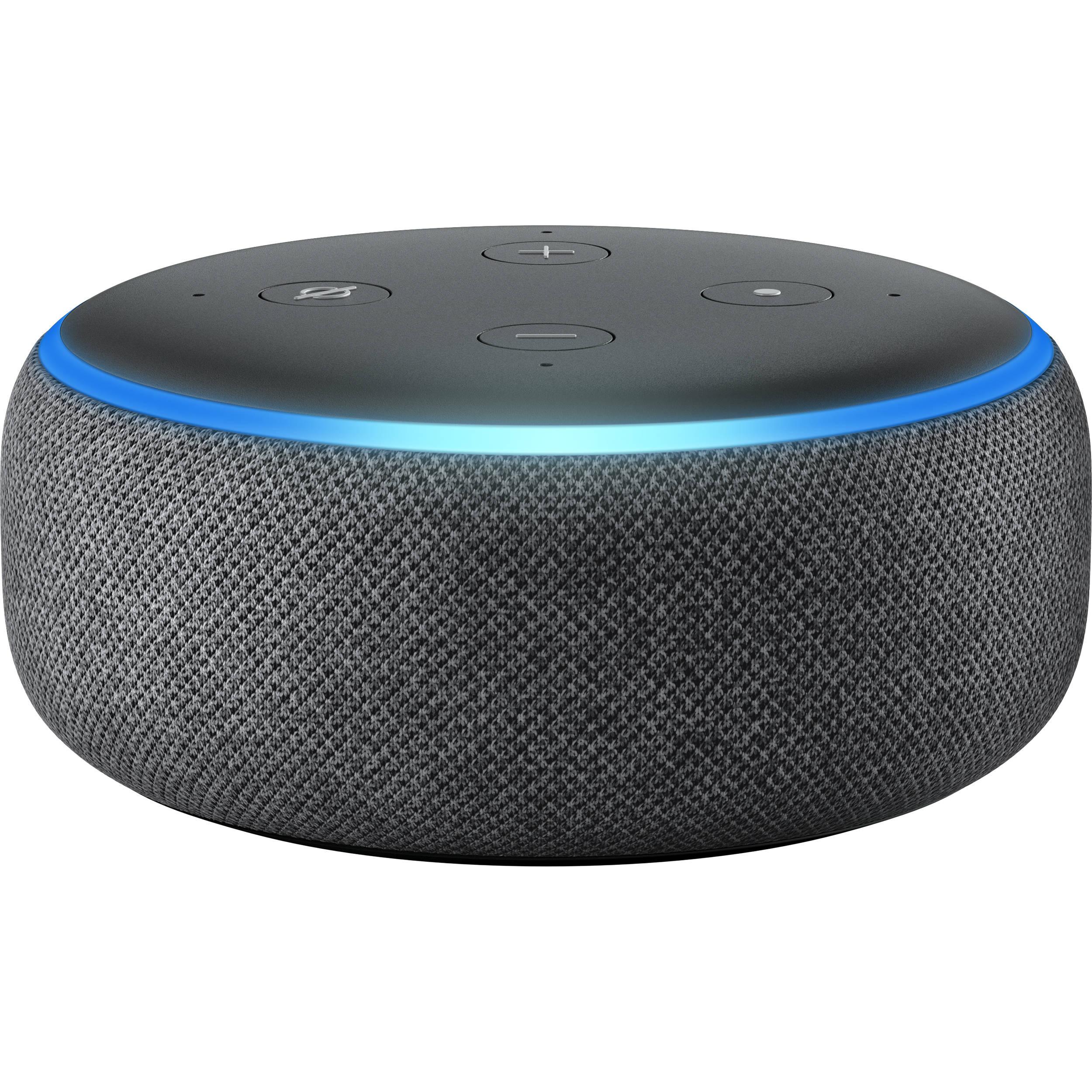 Amazon Echo Dot 3rd Generation Charcoal B0792kthkj B H Photo