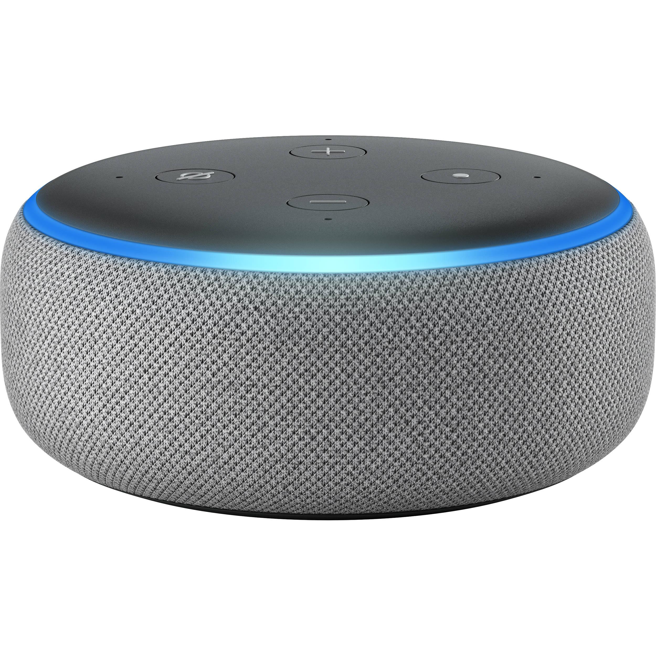 Amazon Echo Dot 3rd Generation Heather Gray B0792k2bk6 B H