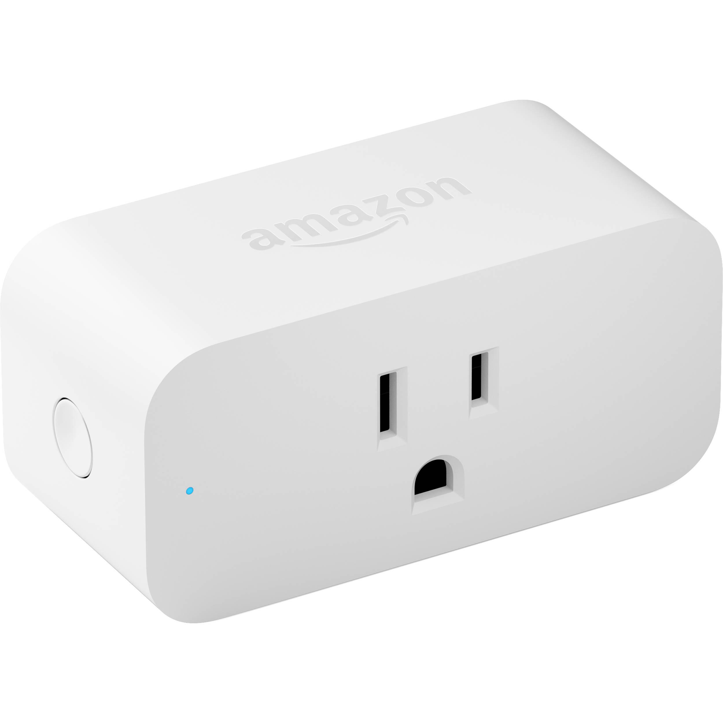 3 prong Single Socket White USA WiFi Smart Plug Works with Amazon Alexa