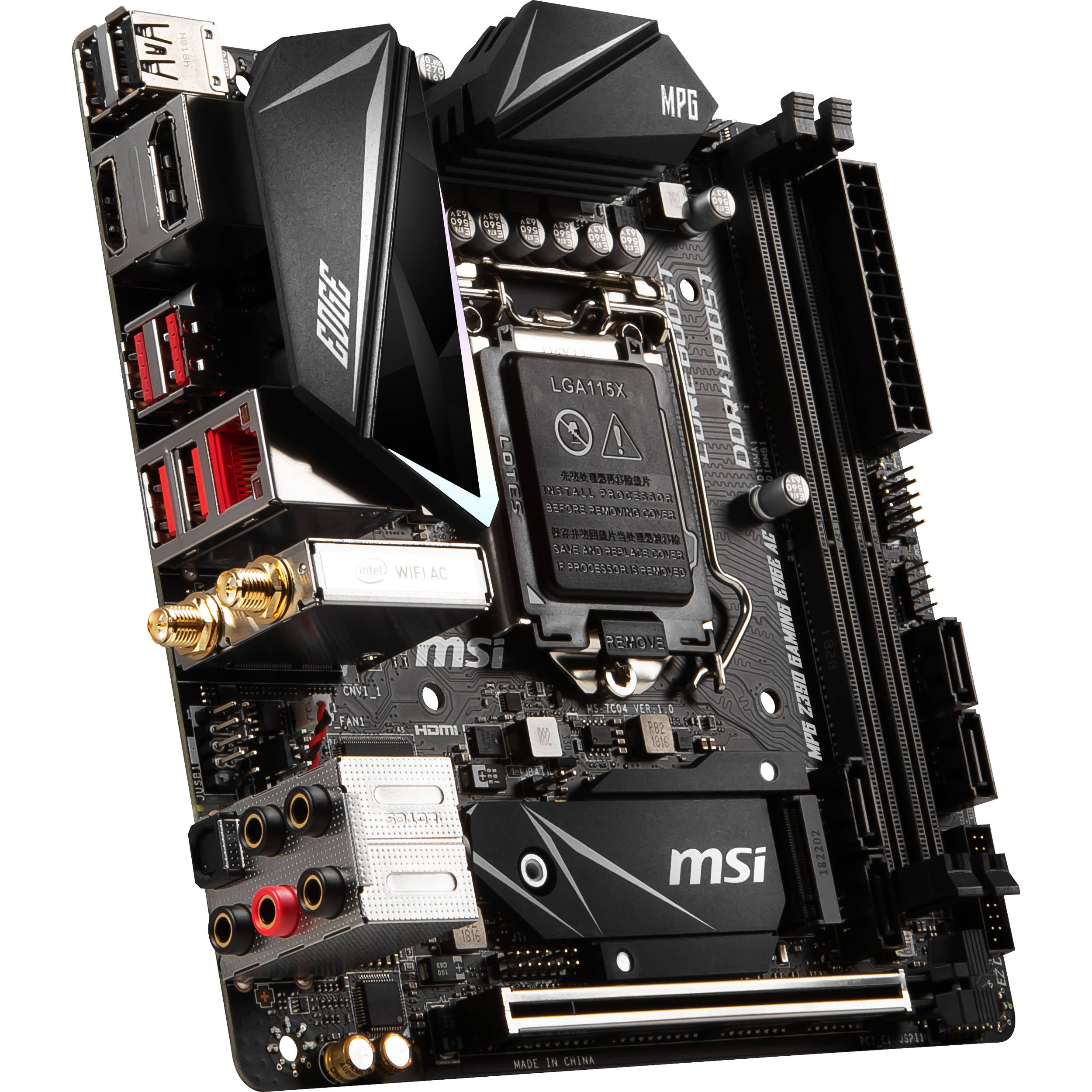 MSI MPG Z390I GAMING EDGE AC LGA 1151 Mini-ITX Motherboard