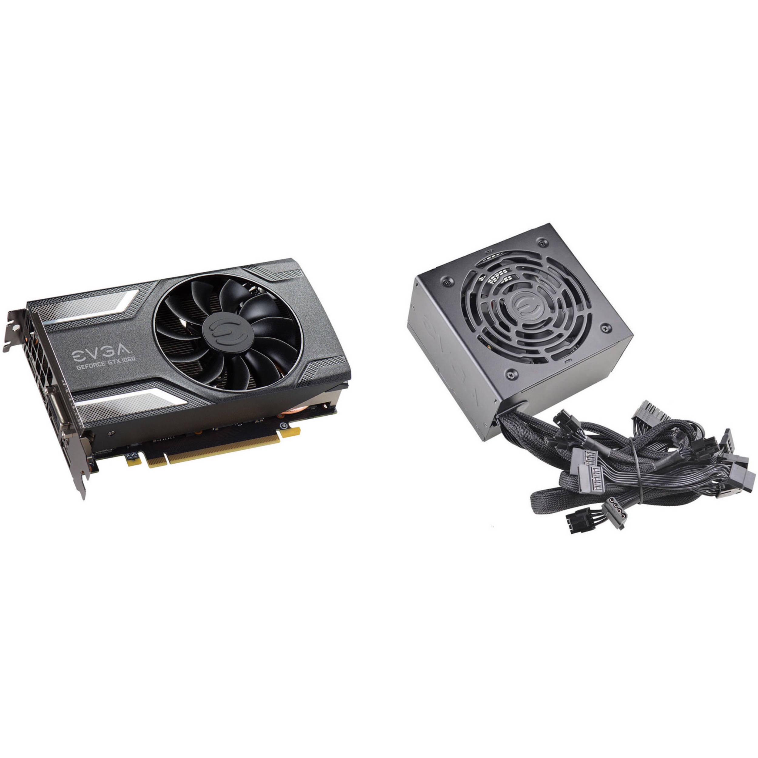EVGA GeForce GTX 1060 SC GAMING Graphics Card & 600 BR 600W 80 Plus Bronze  Power Supply Kit