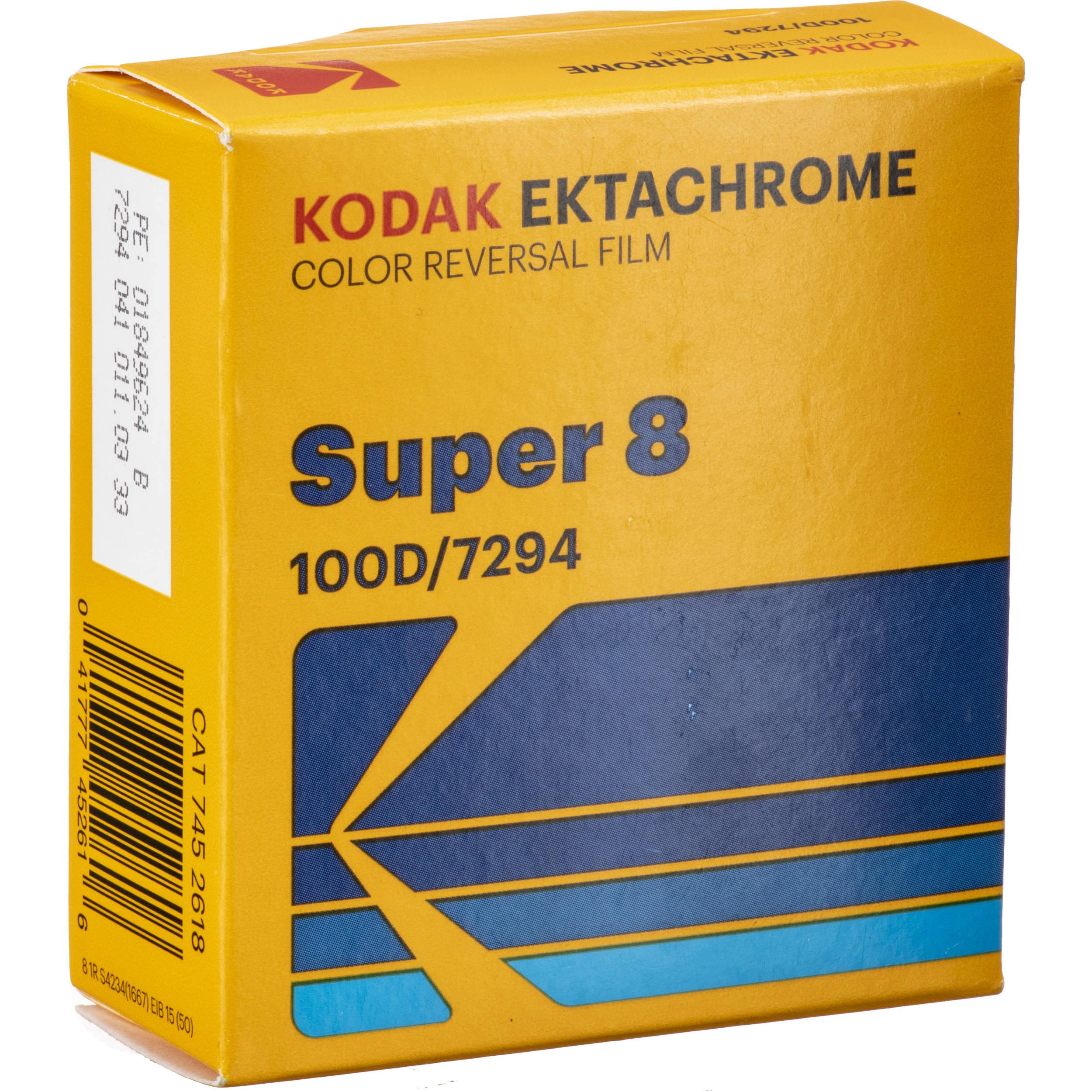 Kodak Ektachrome 100D Color Transparency Film #7294 (Super 8, 50' Roll)