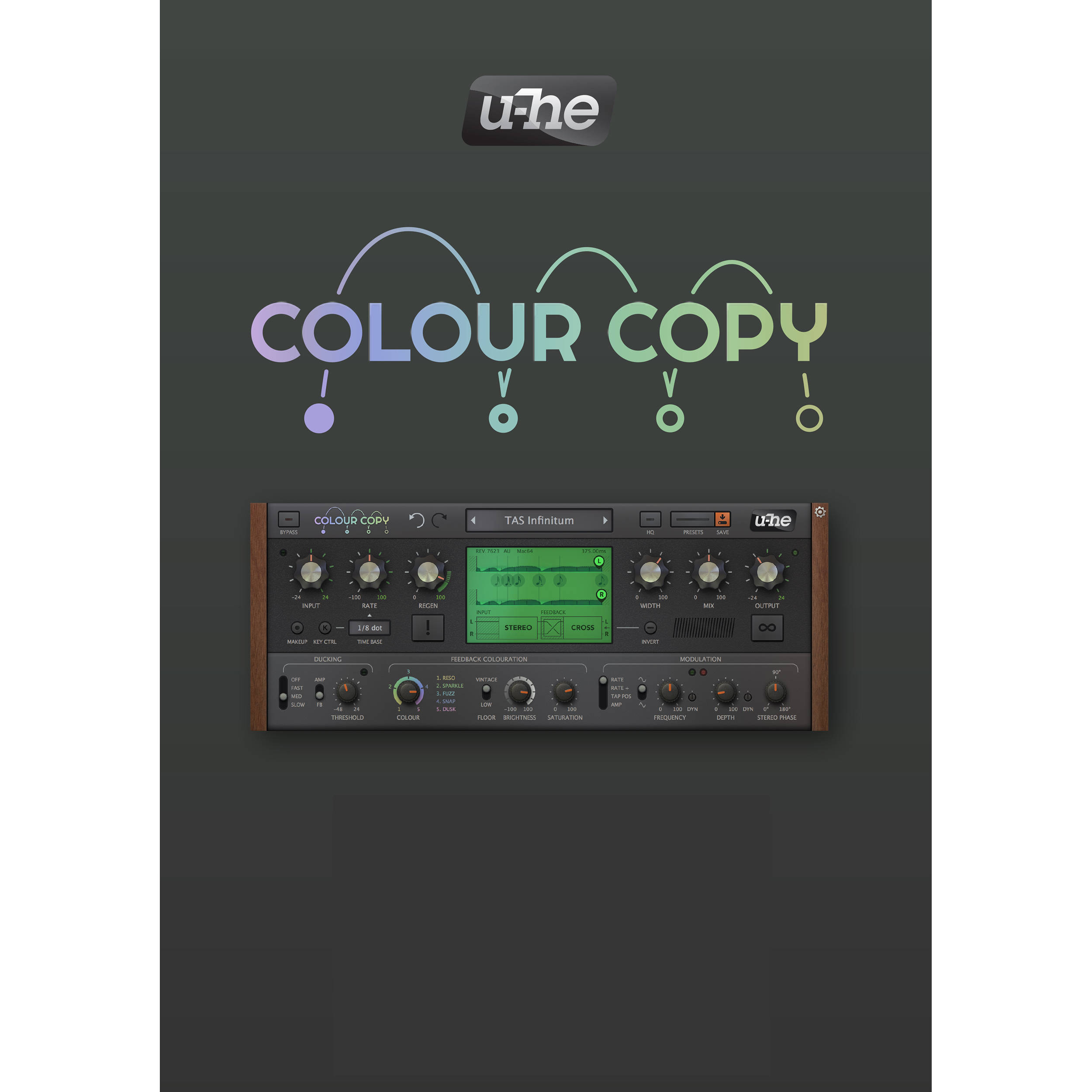u-he Colour Copy - Analog-Style Delay for Pro Audio Applications (Software,  Download)