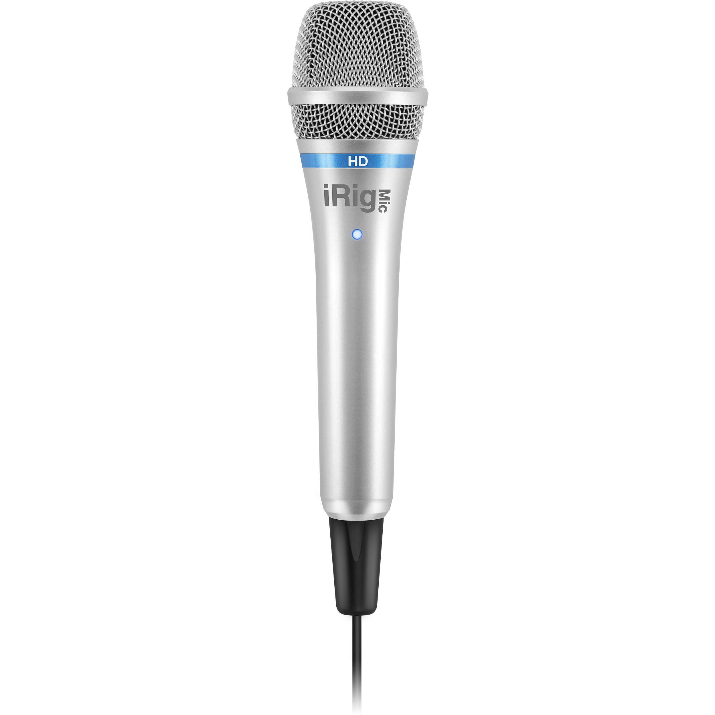 IK Multimedia iRig Mic HD Digital Condenser Microphone for iOS/Mac/Windows  (Silver)