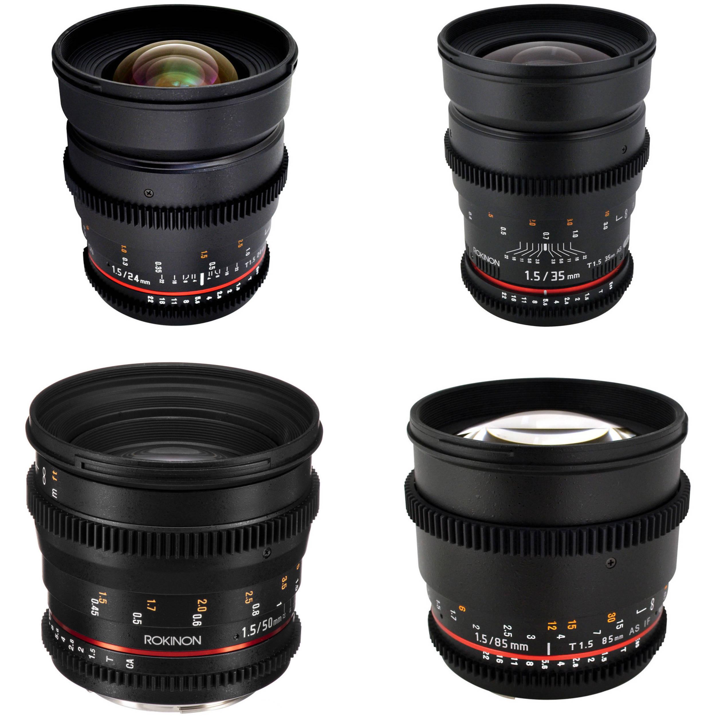 Rokinon T1 5 Cine Lens Bundle for Canon EF-Mount