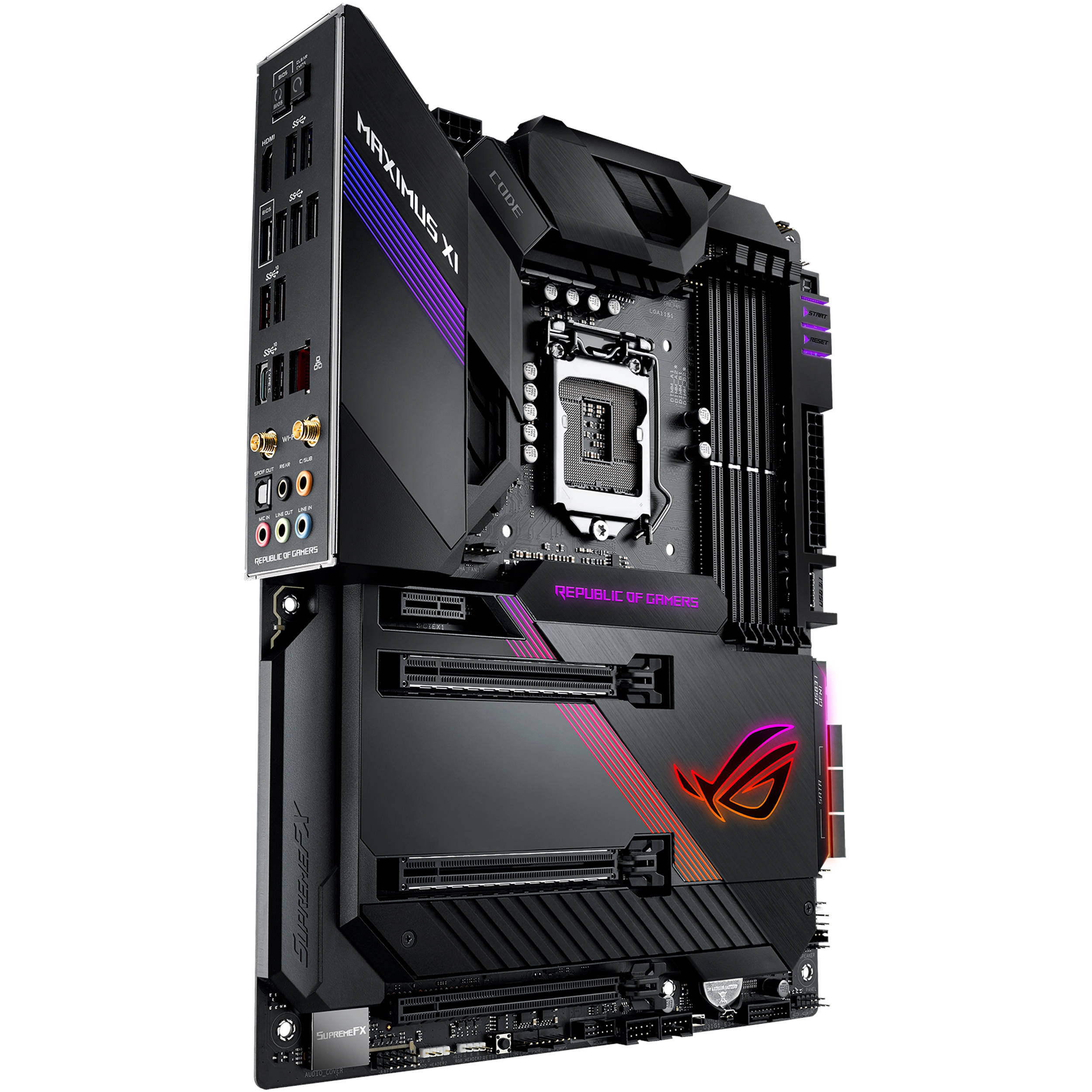 ASUS Republic of Gamers Maximus XI Code LGA 1151 ATX Motherboard